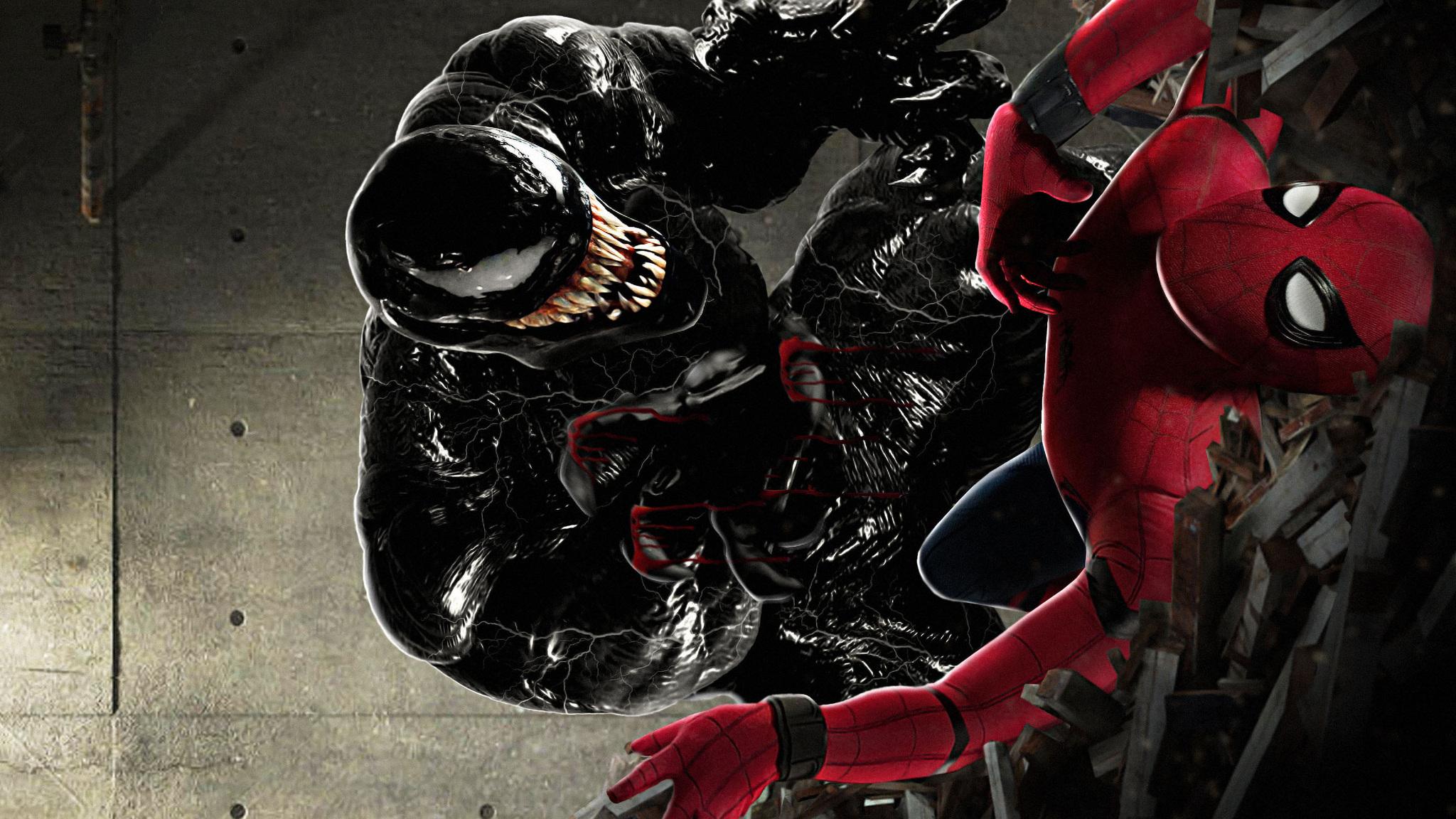 2048x1152 Spiderman Vs Venom Art 2048x1152 Resolution Hd 4k