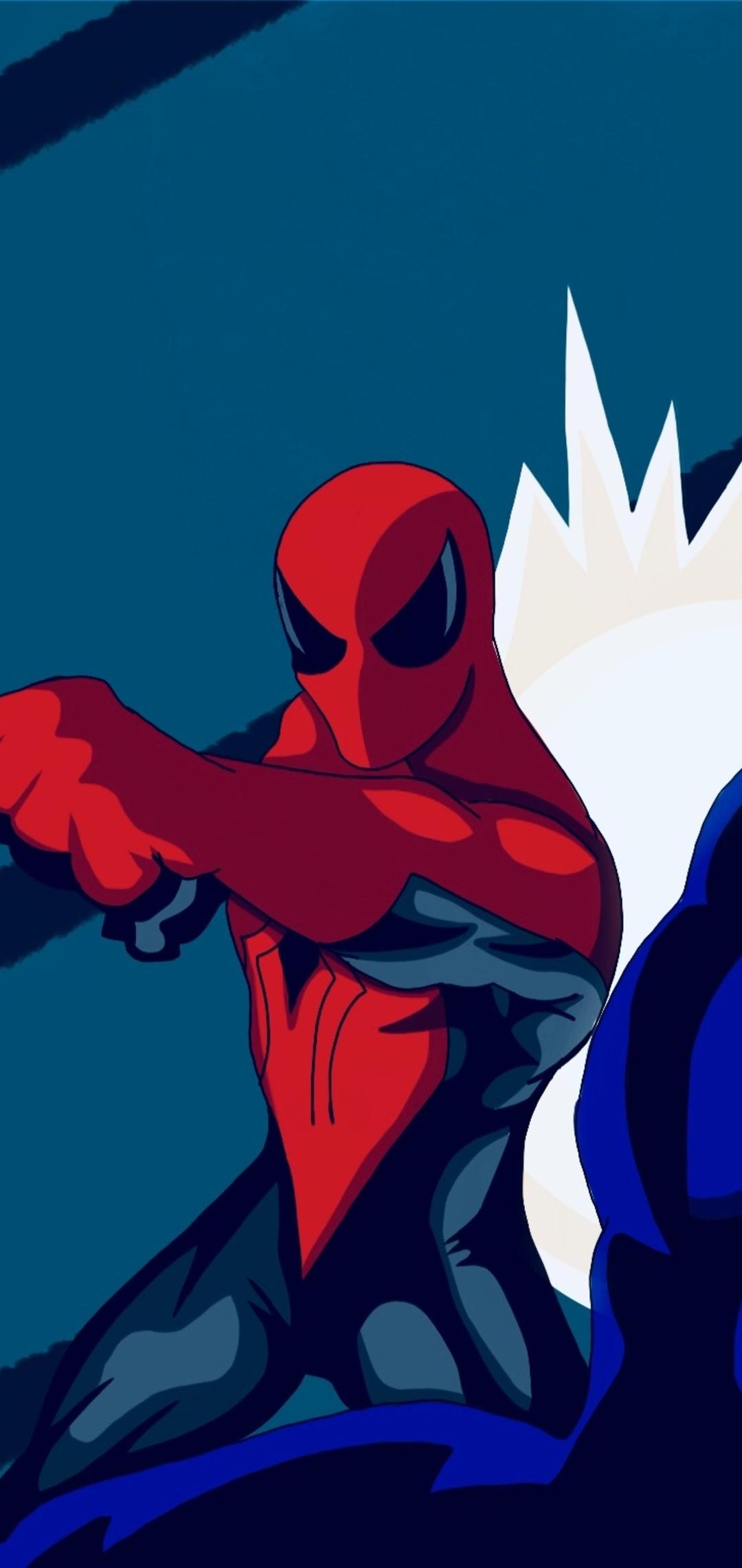spiderman vs venom artwork od