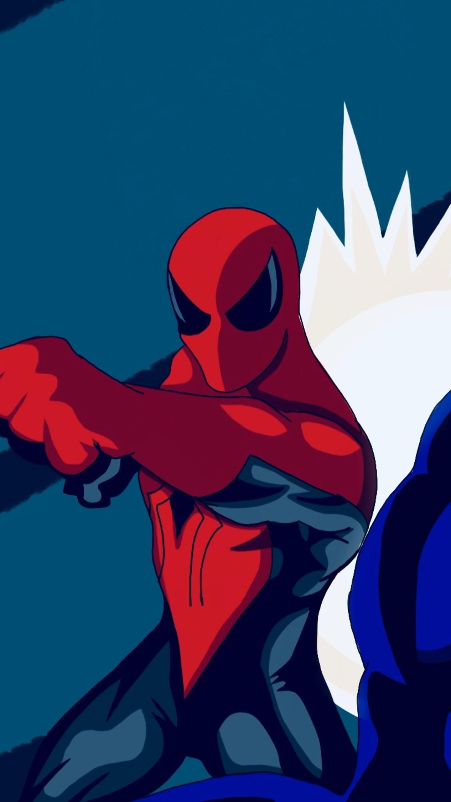 1440x2560 Spiderman Vs Venom Artwork Samsung Galaxy S6 S7 Google