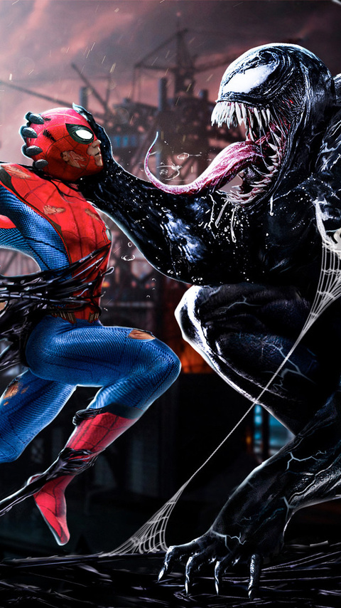 Spiderman Vs Venom Digital Art (Android One)
