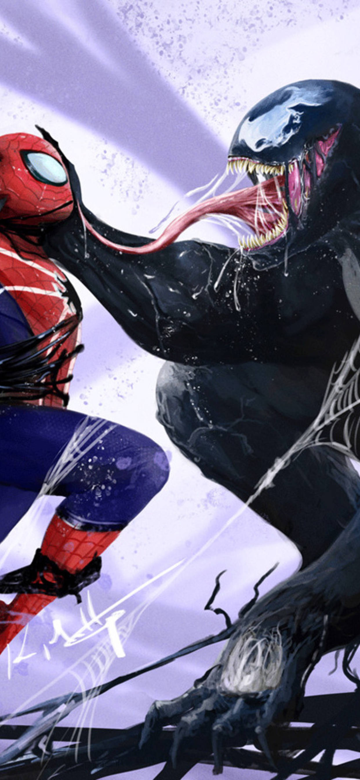 1242x2688 Spiderman Vs Venom Iphone Xs Max Hd 4k Wallpapers Images