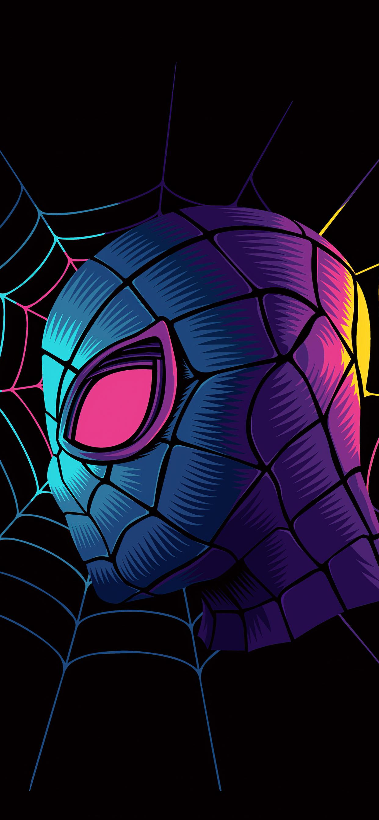 1242x2688 Spiderman Web Minimalist Art 4k Iphone XS MAX HD ...