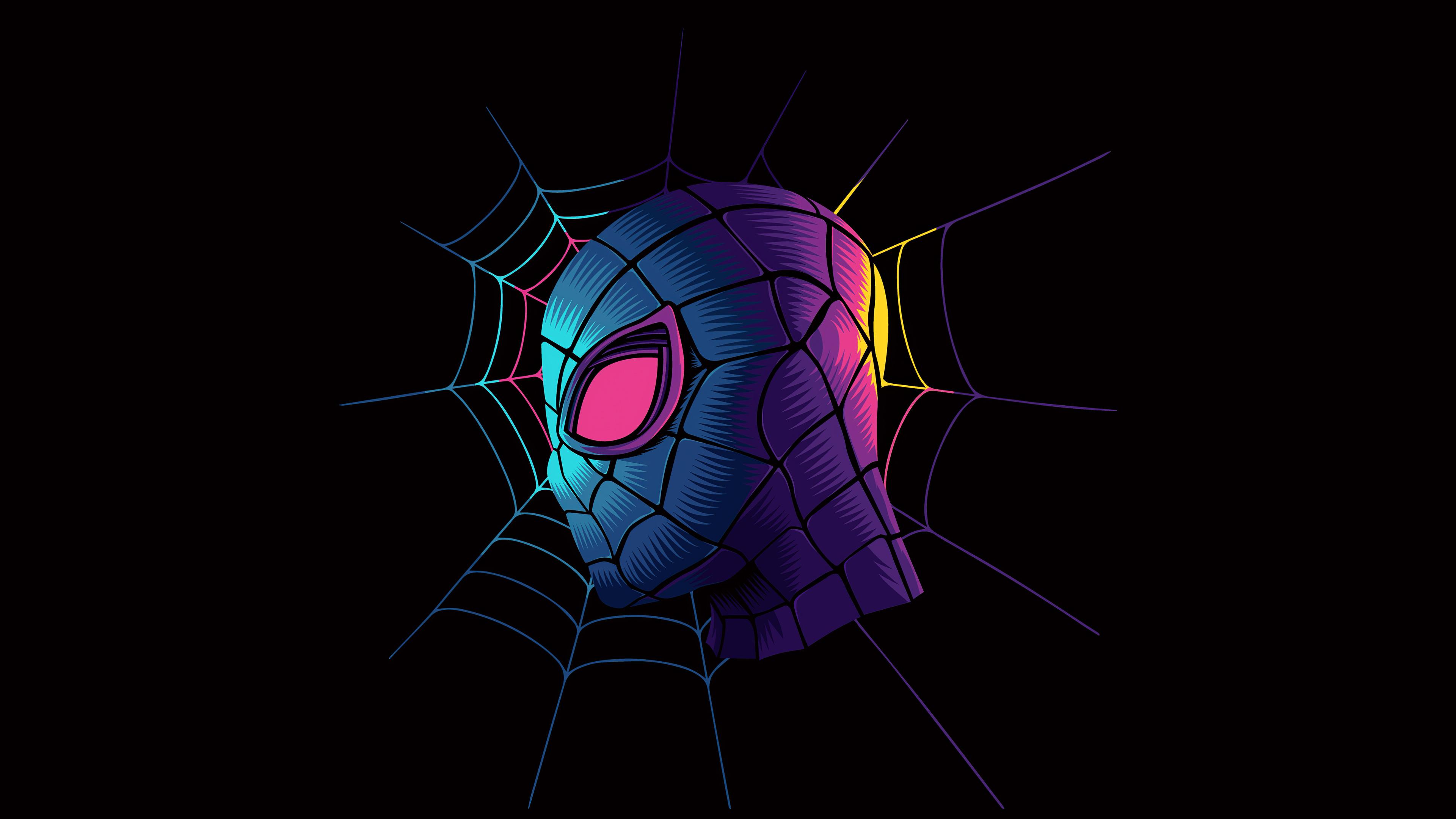 3840x2160 Spiderman Web Minimalist Art 4k 4k HD 4k ...