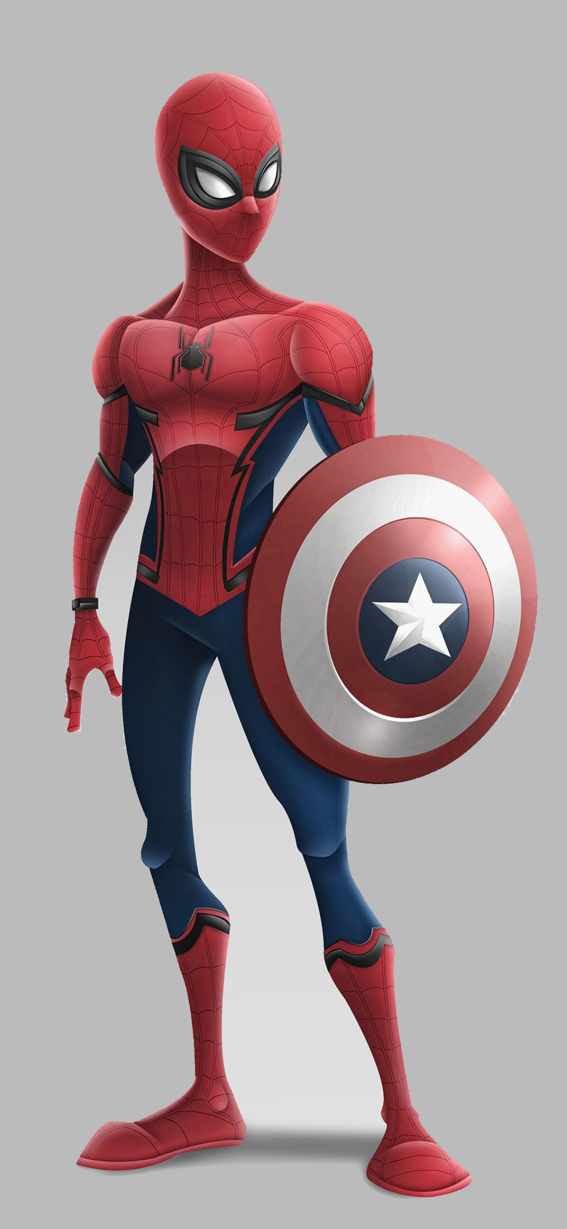1125x2436 Spiderman With Captain America Shield Iphone Xs Iphone 10
