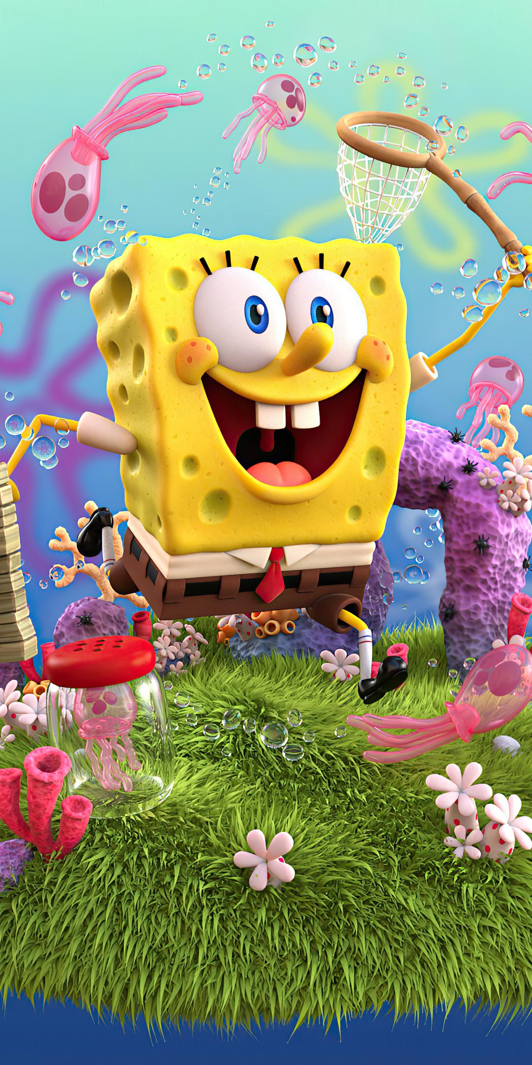 1080x2160 SpongeBob SquarePants 4k 2020 One Plus 5T,Honor ...