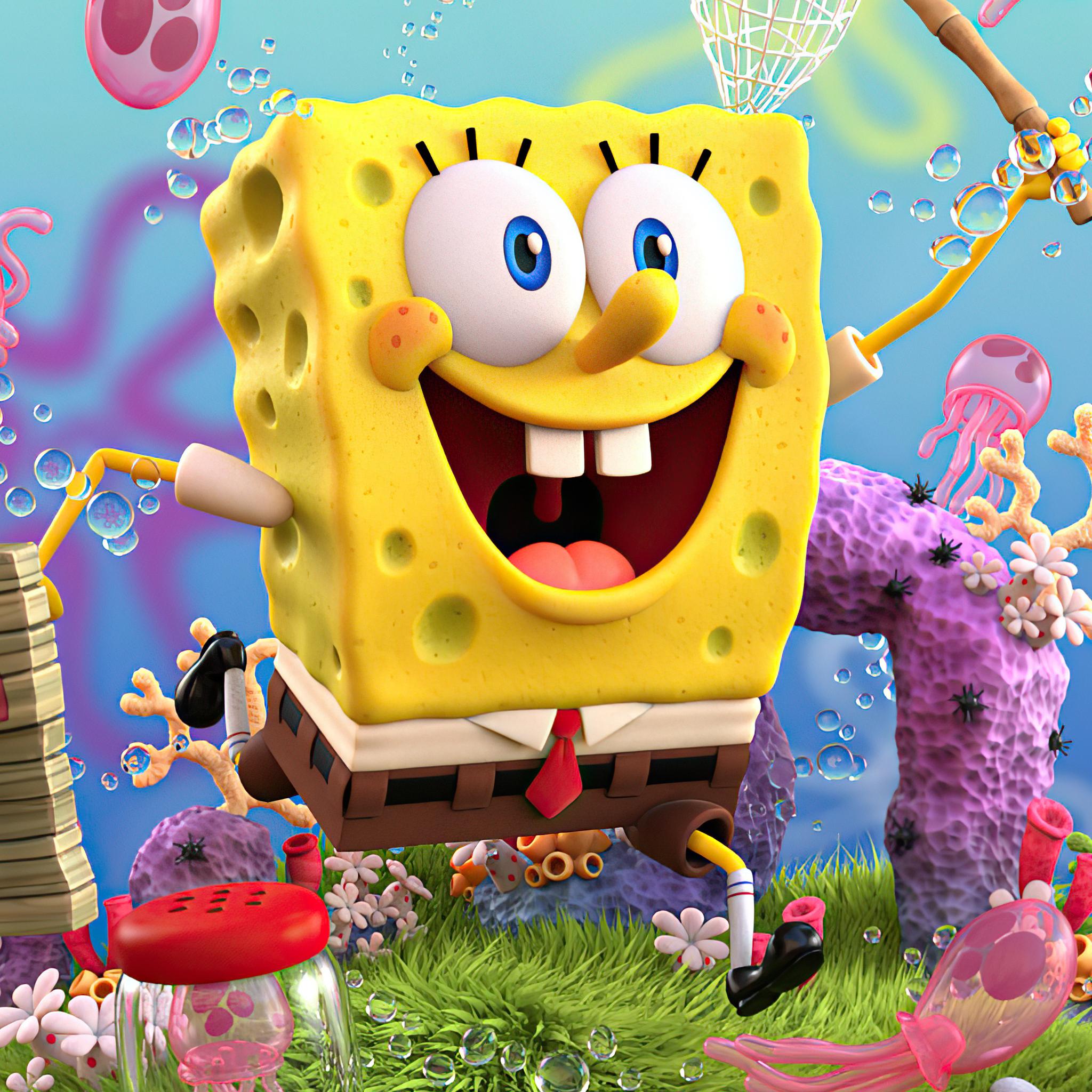 2048x2048 SpongeBob SquarePants 4k 2020 Ipad Air HD 4k ...