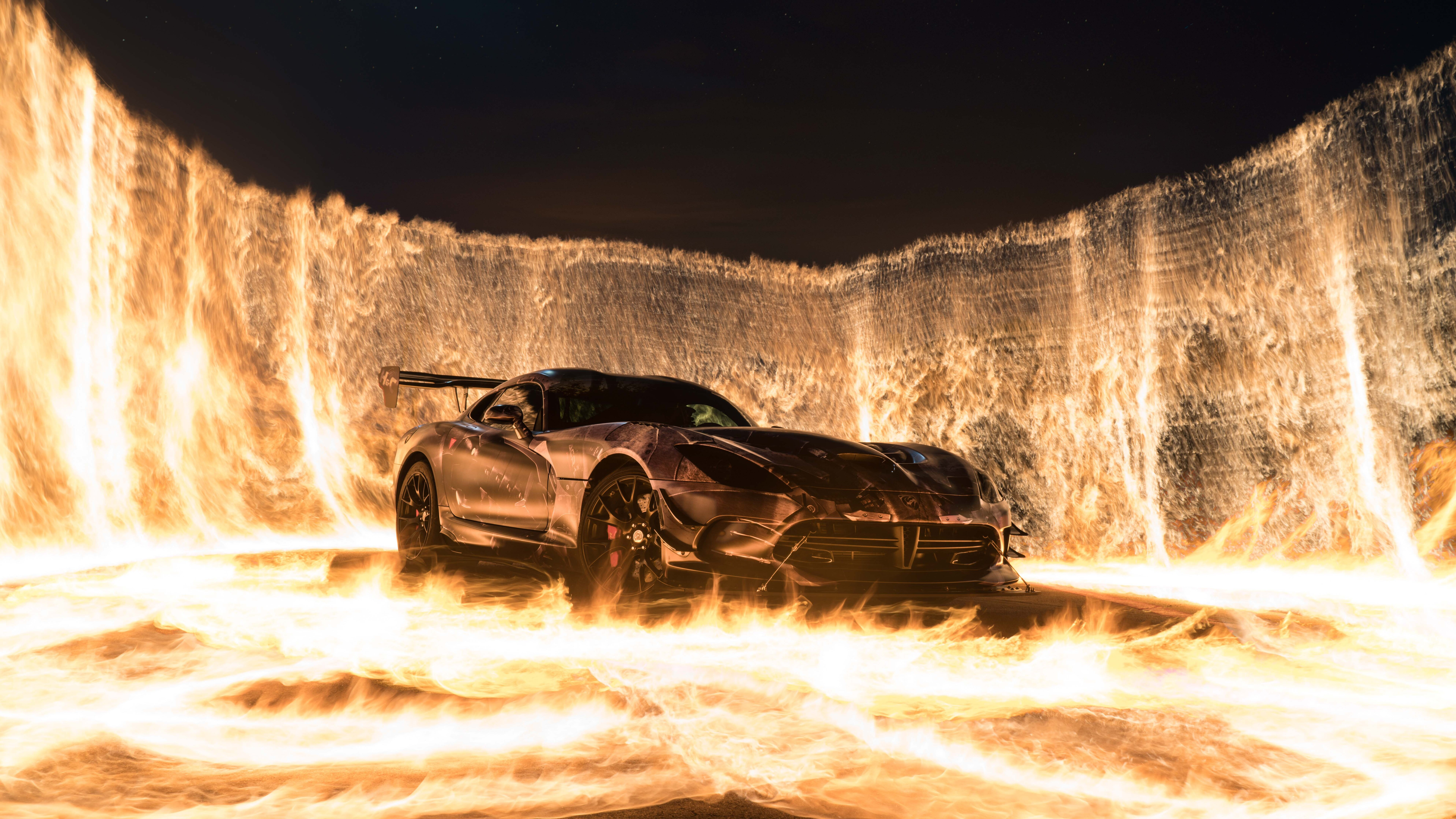7680x4320 Sports Car On Fire 8k Hd 4k Wallpapers Images