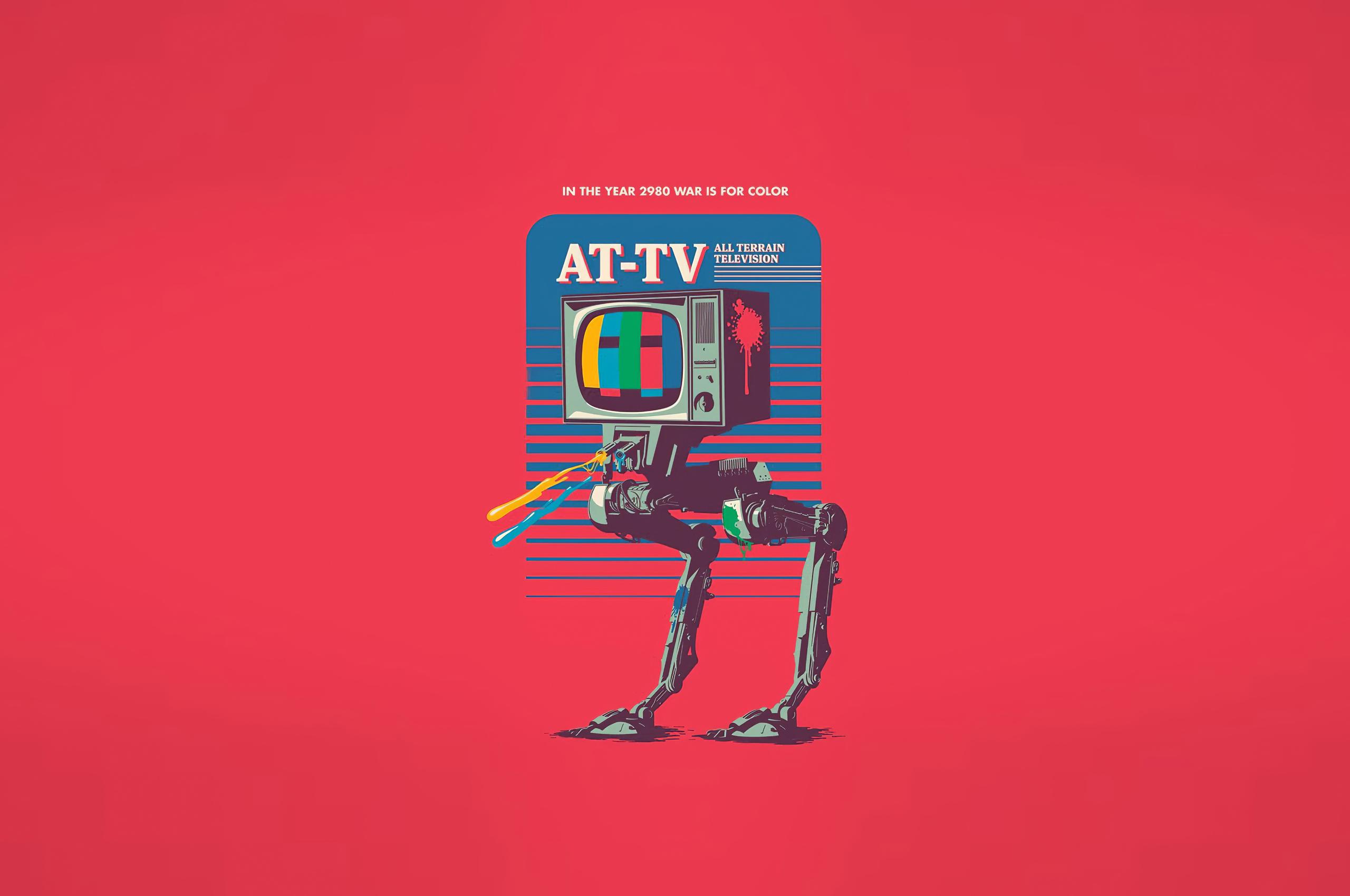 star wars at tv minimalist 4k gv