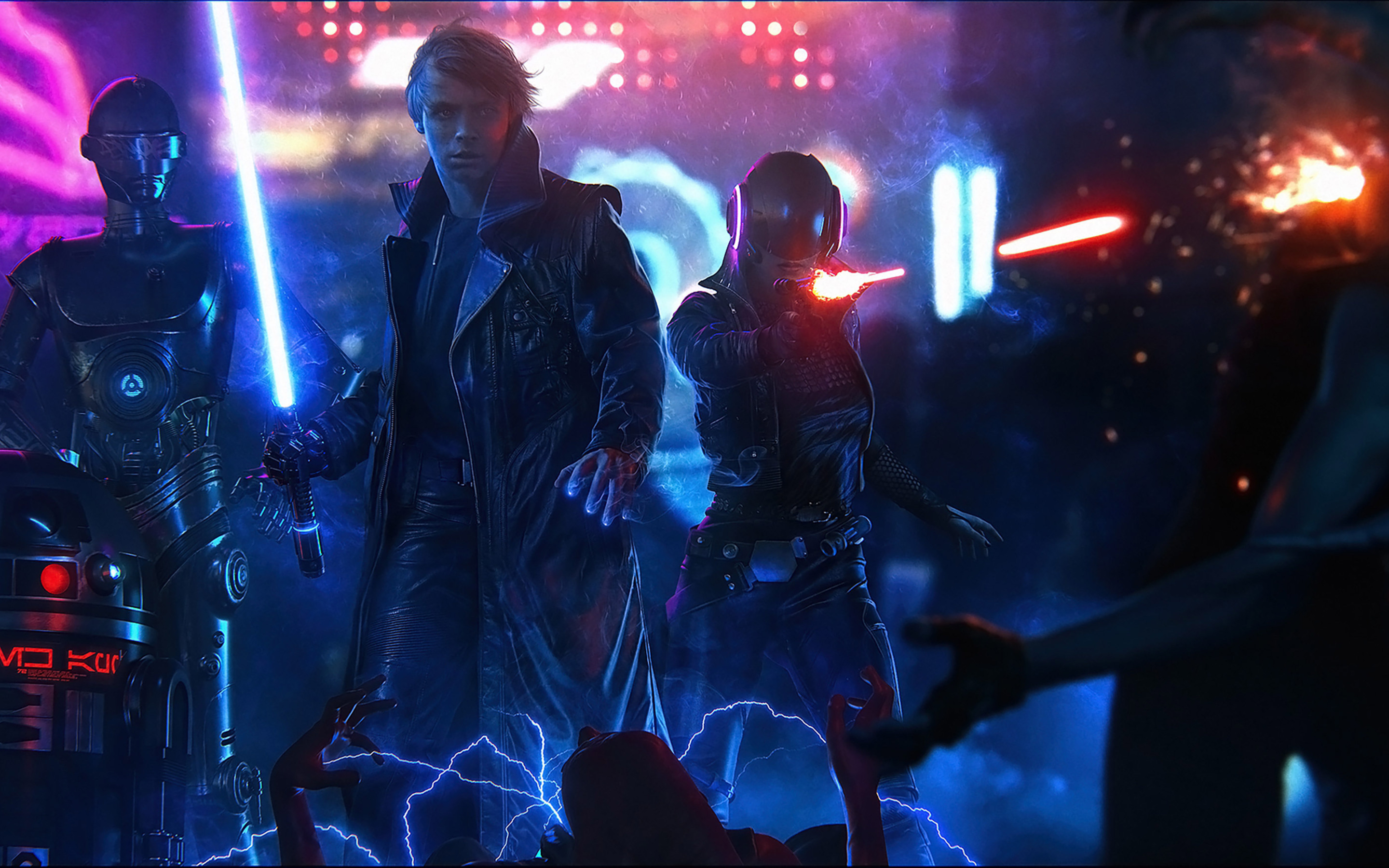 2880x1800 Star Wars Cyberpunk Macbook Pro Retina Hd 4k Wallpapers Images Backgrounds Photos And Pictures