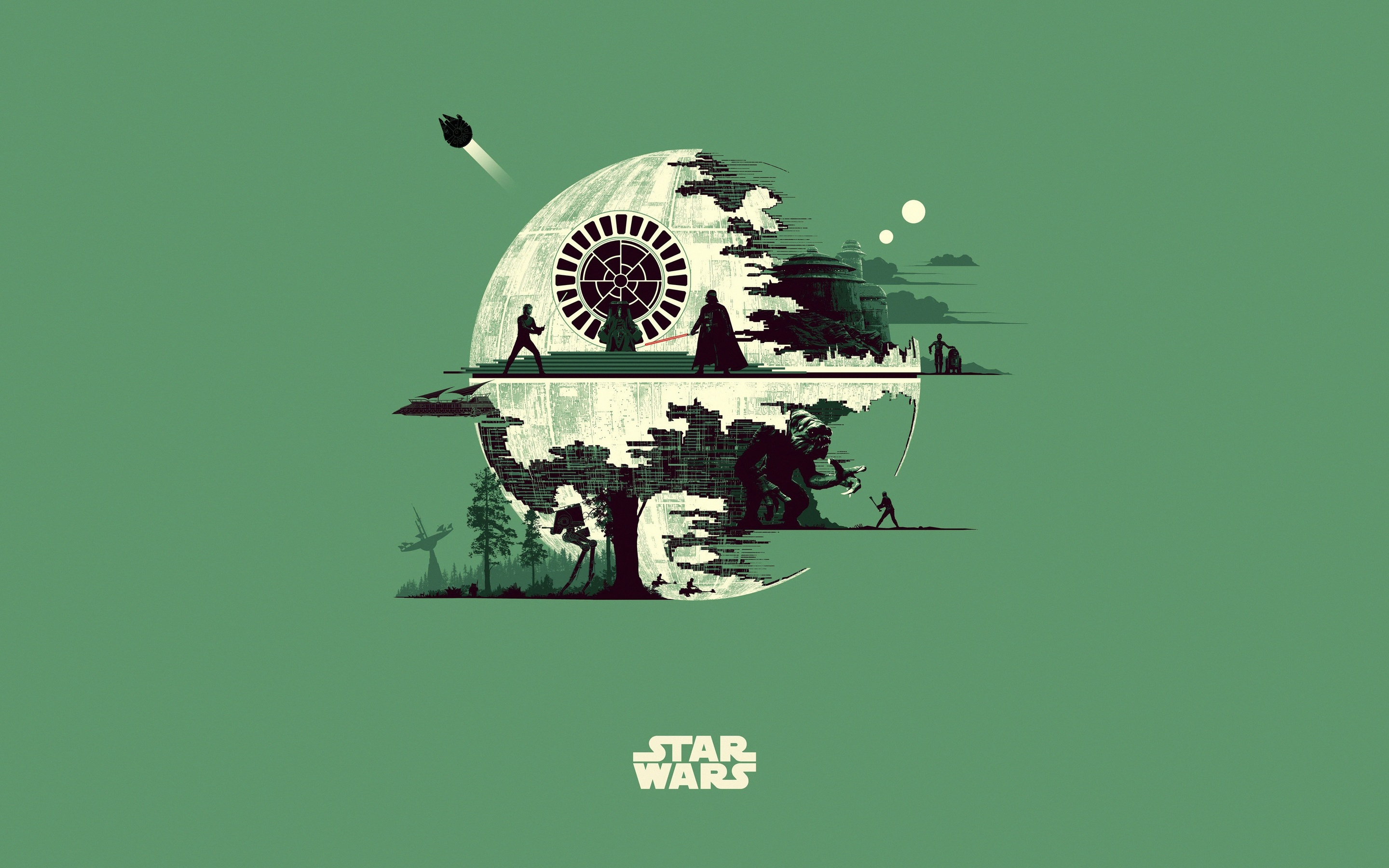 star wars minimalism artwork 5k bo