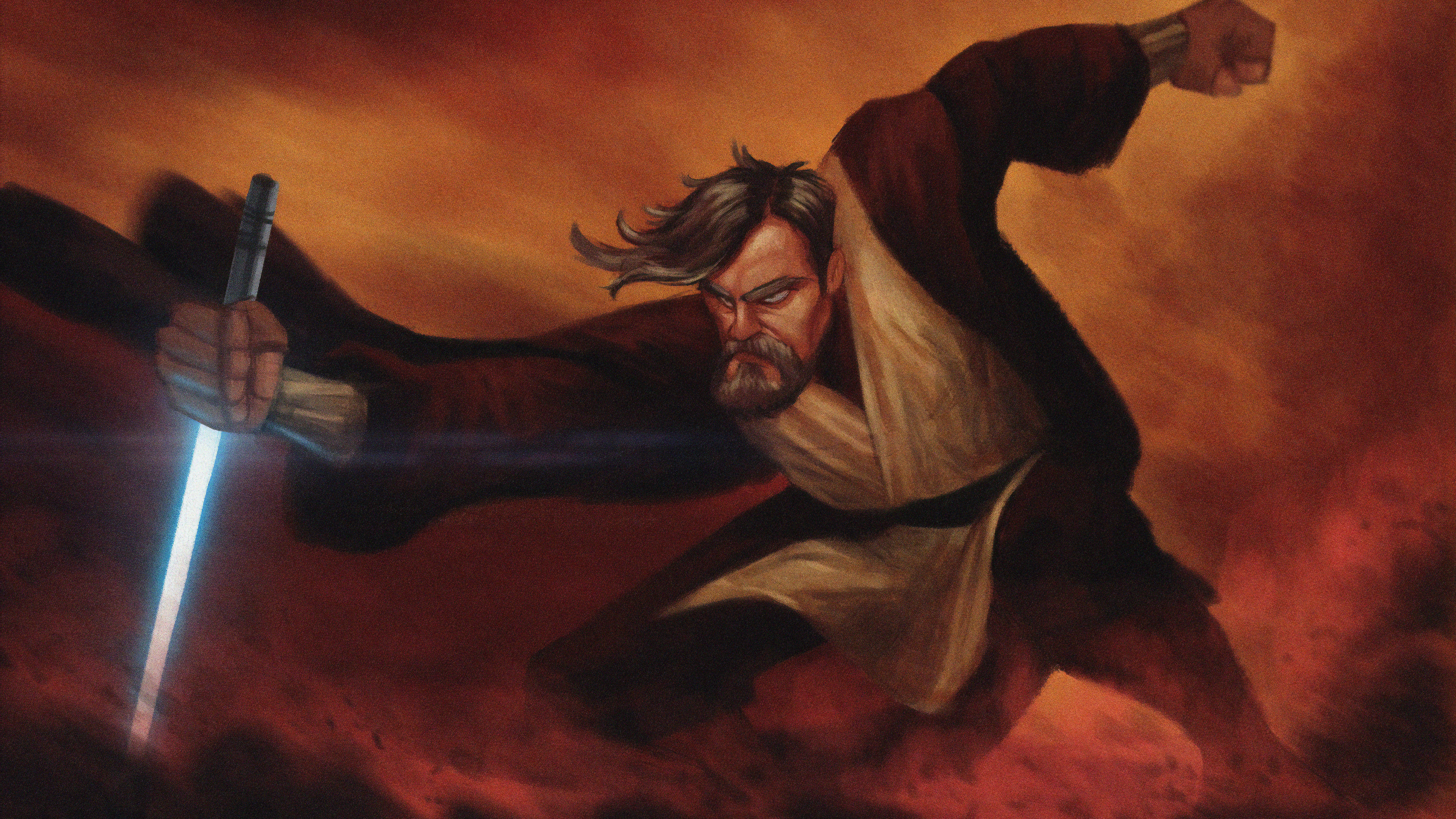 star wars obi wan artwork 4k 7n