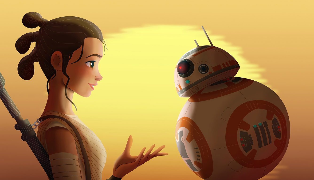 1336x768 Star Wars Rey And Bb8 4k Laptop HD HD 4k Wallpapers