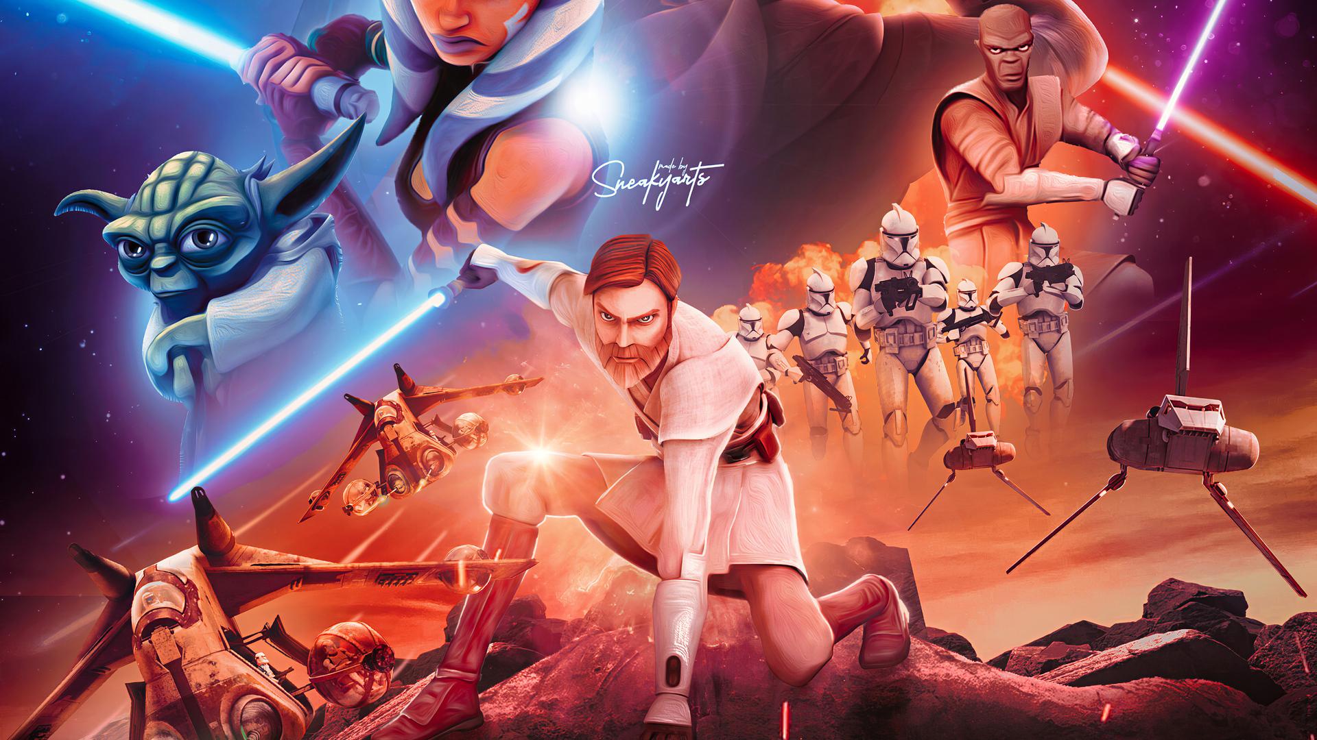 star wars the clone wars 4k xv