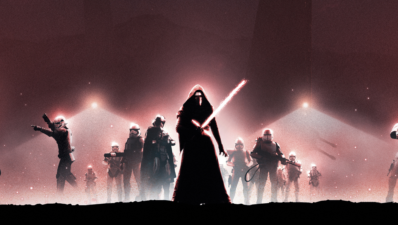1360x768 Star Wars The Force Awakens Poster Art Laptop Hd Hd 4k