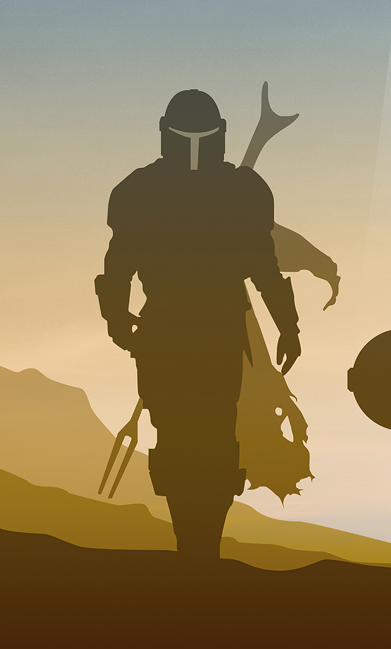 1280x2120 Star Wars The Mandalorian Minimalist 4k Iphone 6 Hd 4k Wallpapers Images Backgrounds Photos And Pictures