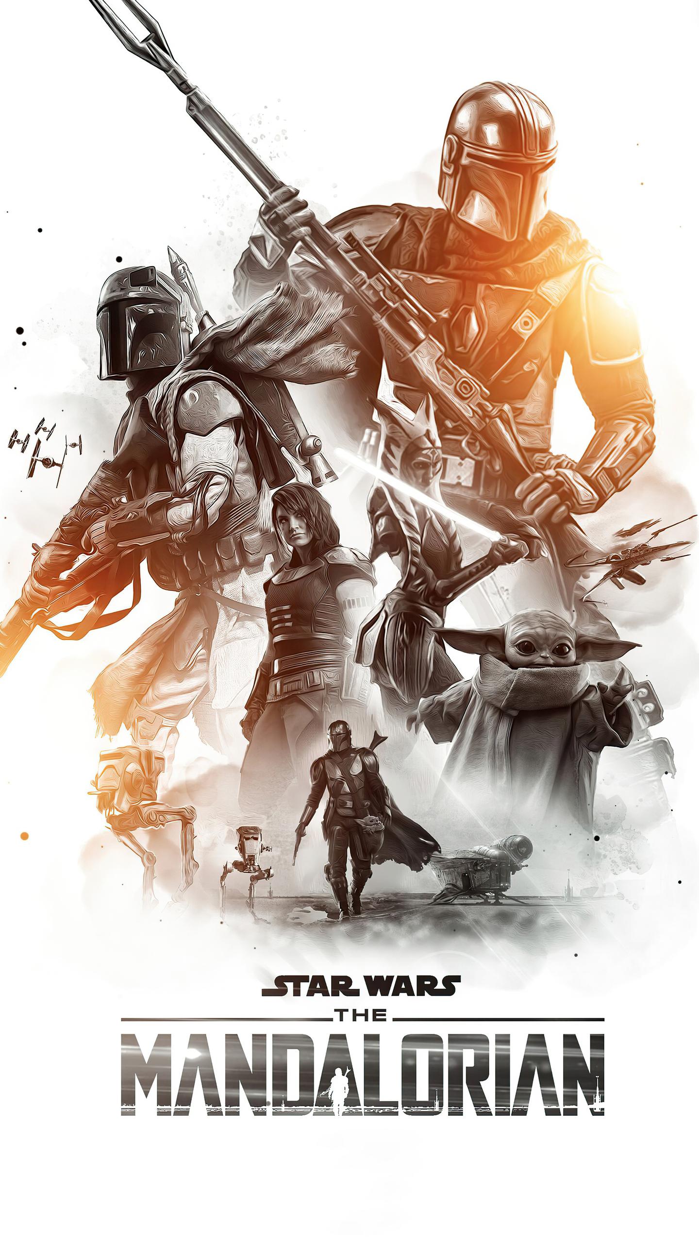 1440x2560 Star Wars The Mandalorian Season 2 Poster 4k ...