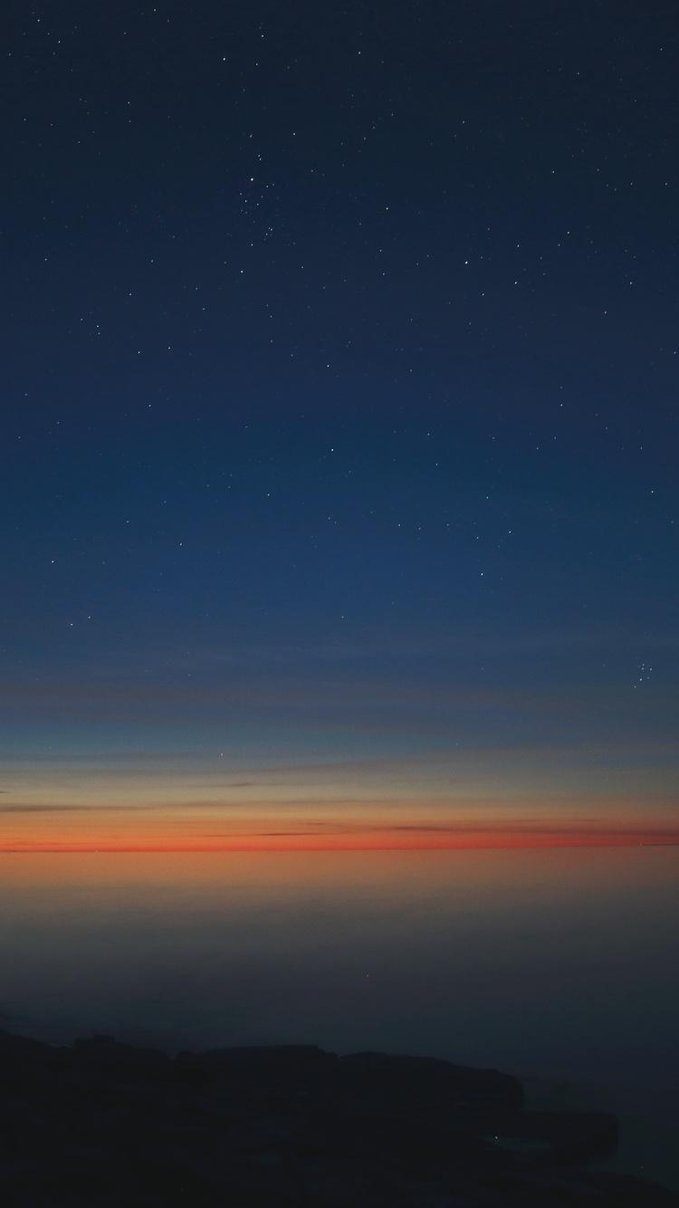 750x1334 Starry Night Calm Sunset 5k Iphone 6 Iphone 6s
