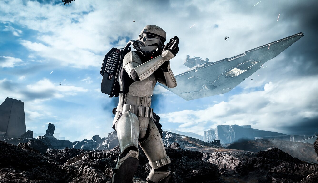 stormtrooper in star wars wide