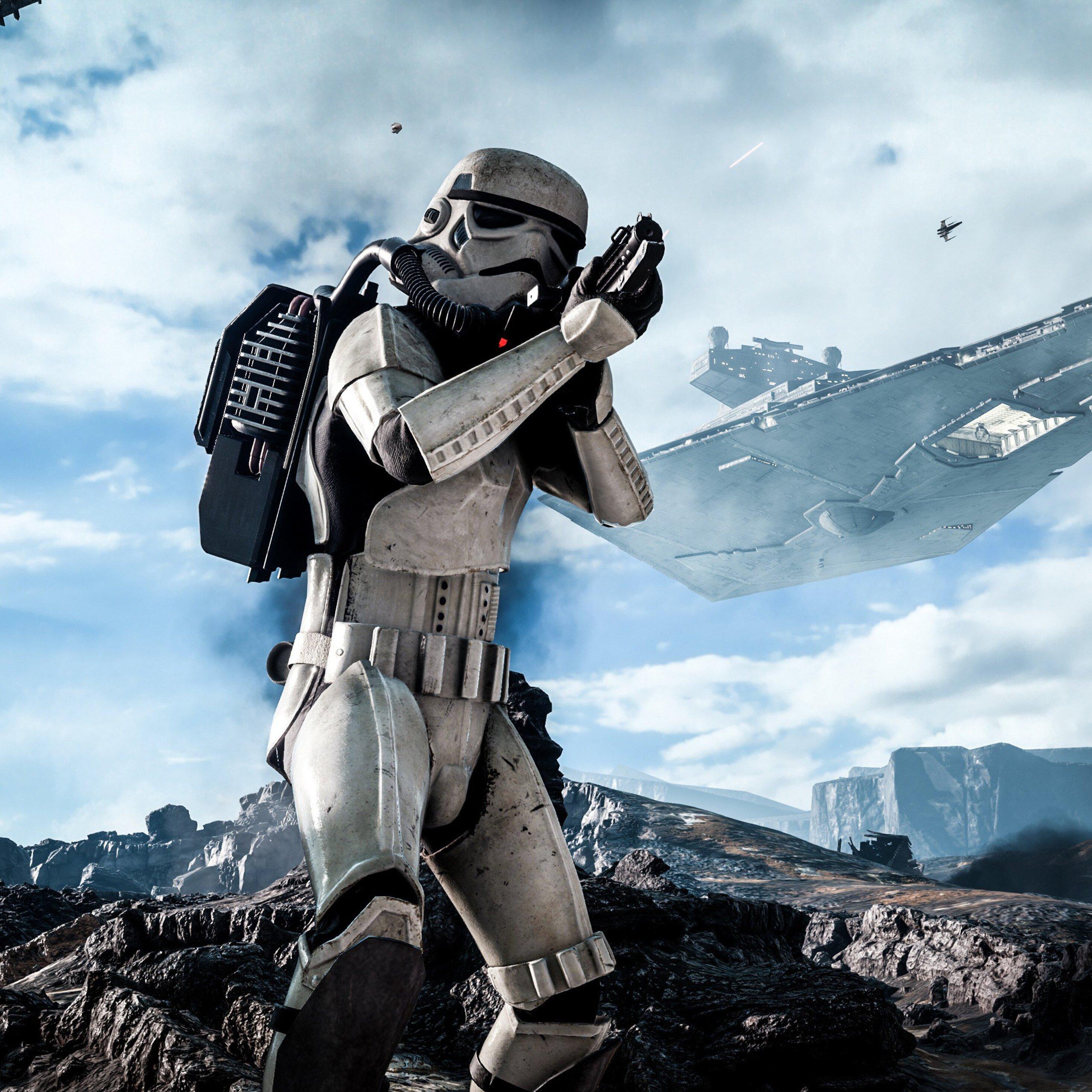 2932x2932 Stormtrooper In Star Wars Ipad Pro Retina Display