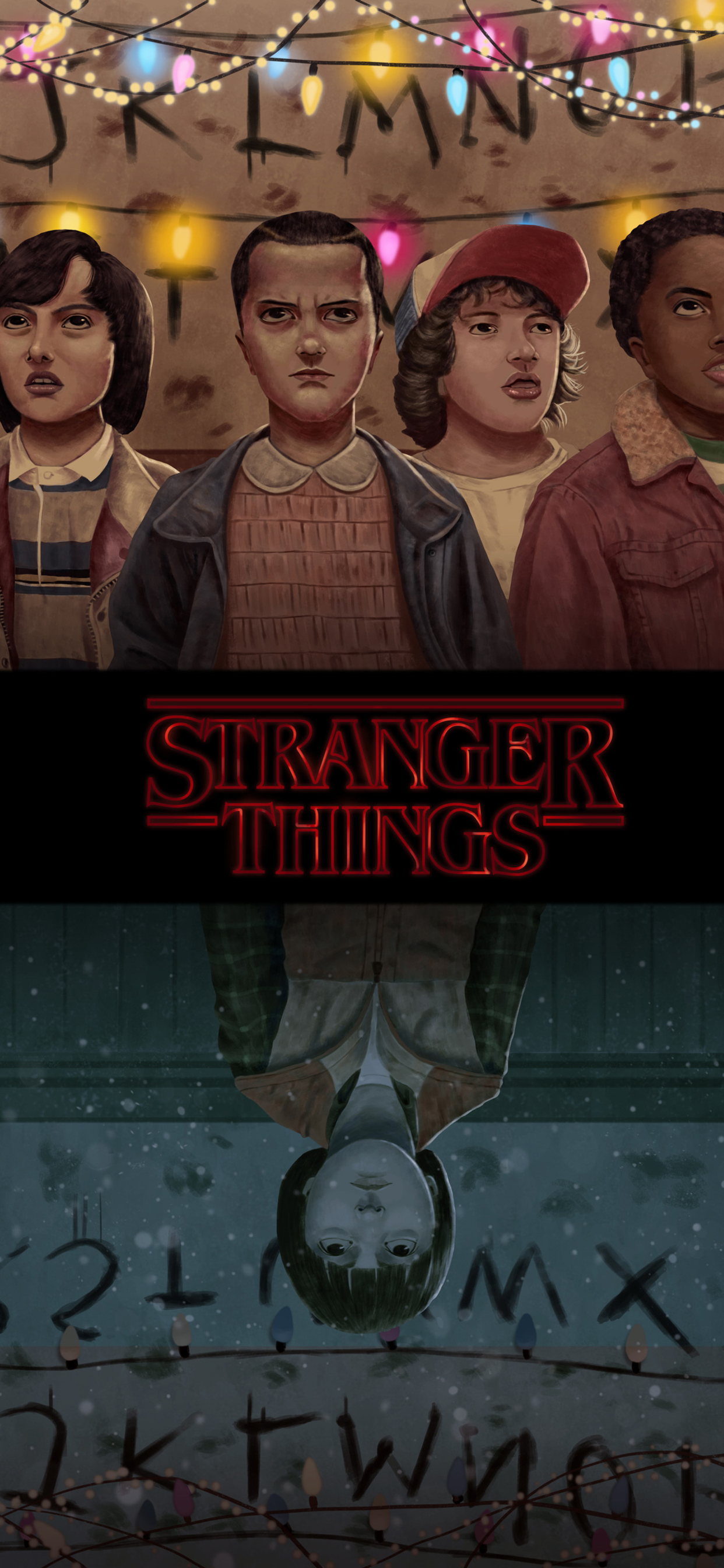 1242x2688 Stranger Things Season 2 Fanart Iphone Xs Max Hd 4k