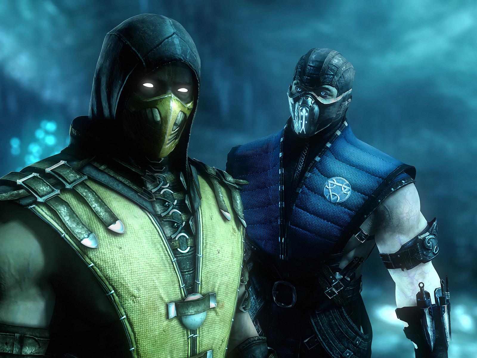 1600x1200 Sub Zero And Scorpion Mortal Kombat 4k 1600x1200