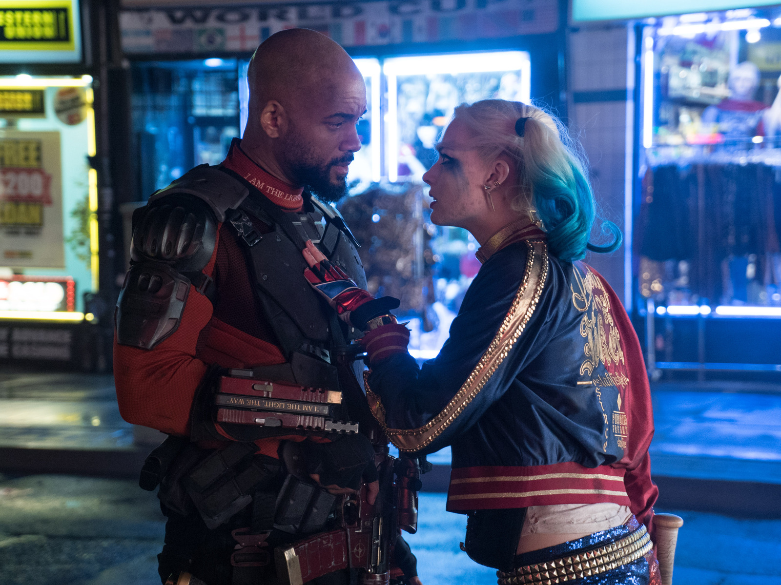 1600x1200 Suicide Squad Will Smith Margot Robbie 1600x1200