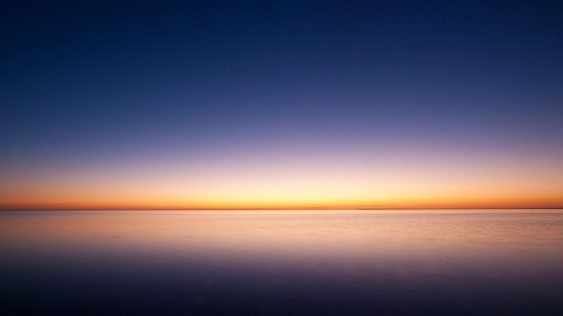 1920x1080 Sunrise Ocean Minimalism Simple Background ...