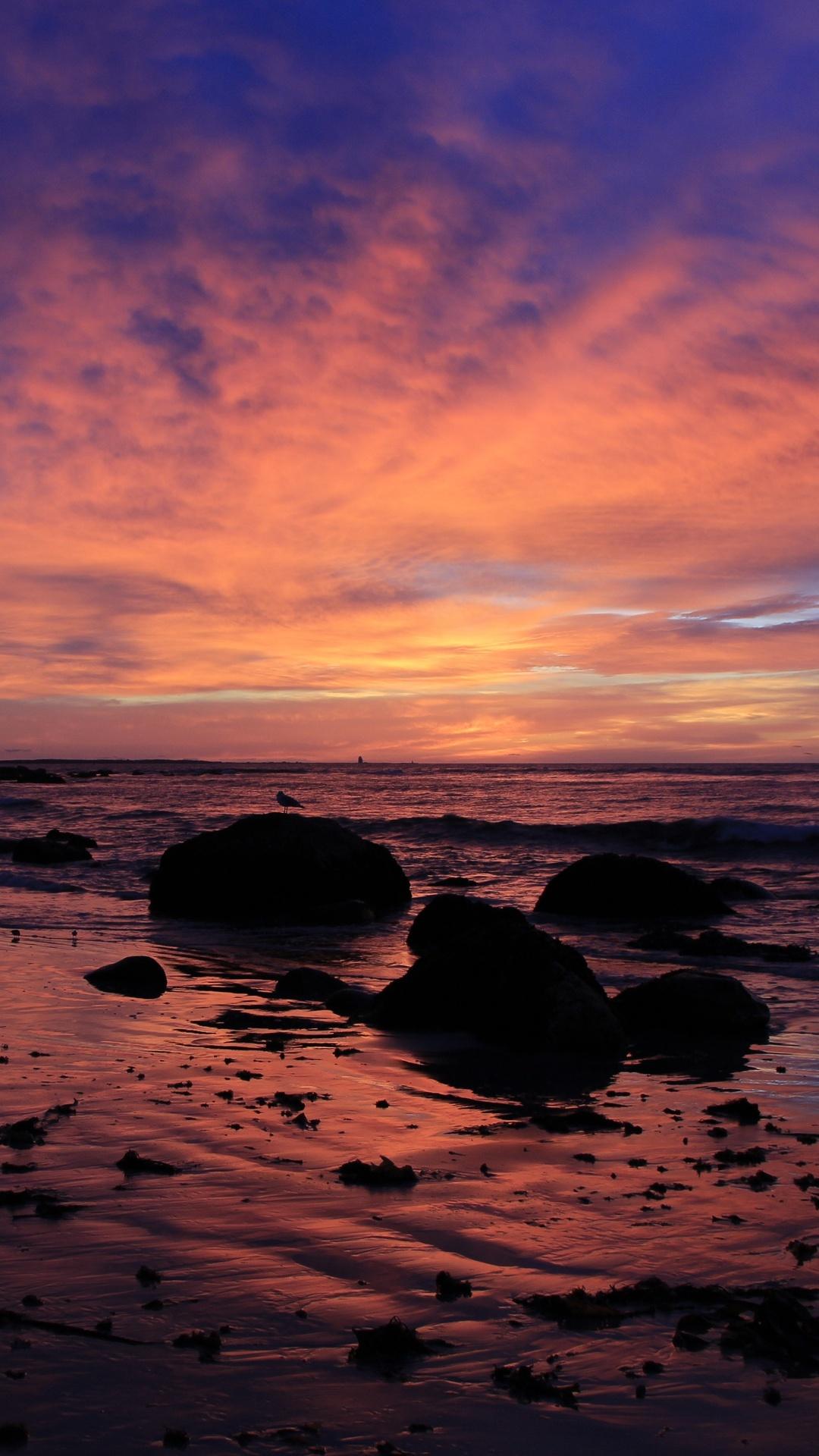 1080x1920 Sunrsie Beach Ocean Sky 4k Iphone 7,6s,6 Plus ...