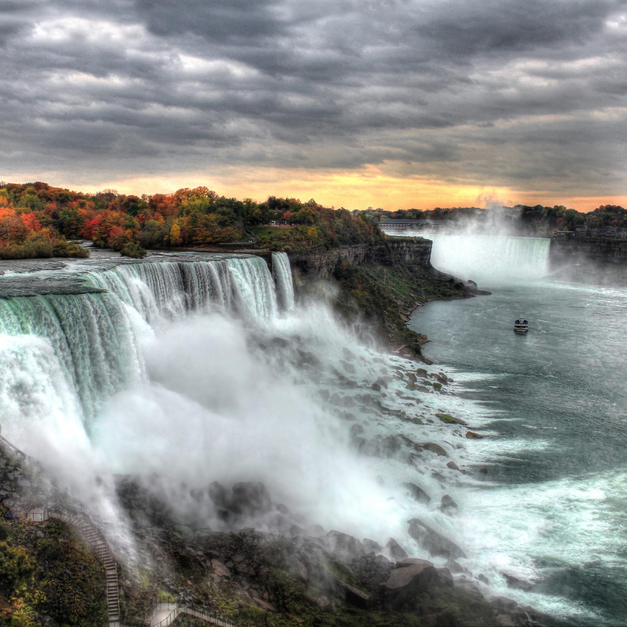 2048x2048 Sunset At Niagara Falls 5k Ipad Air Hd 4k