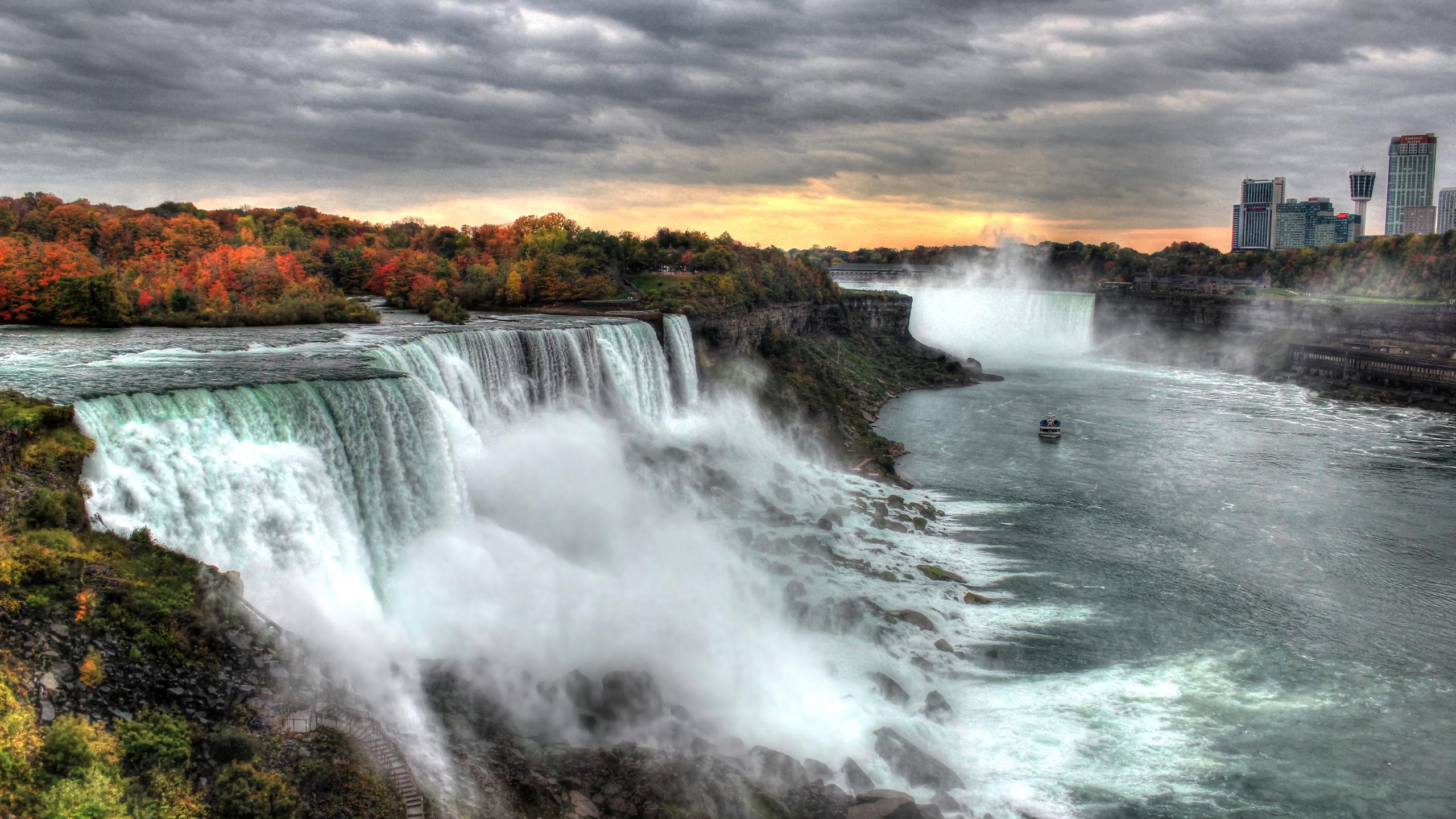 2560x1440 Sunset At Niagara Falls 5k 1440p Resolution Hd 4k