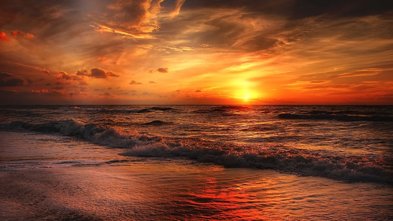 1366x768 Sunset Beach 1366x768 Resolution Hd 4k Wallpapers