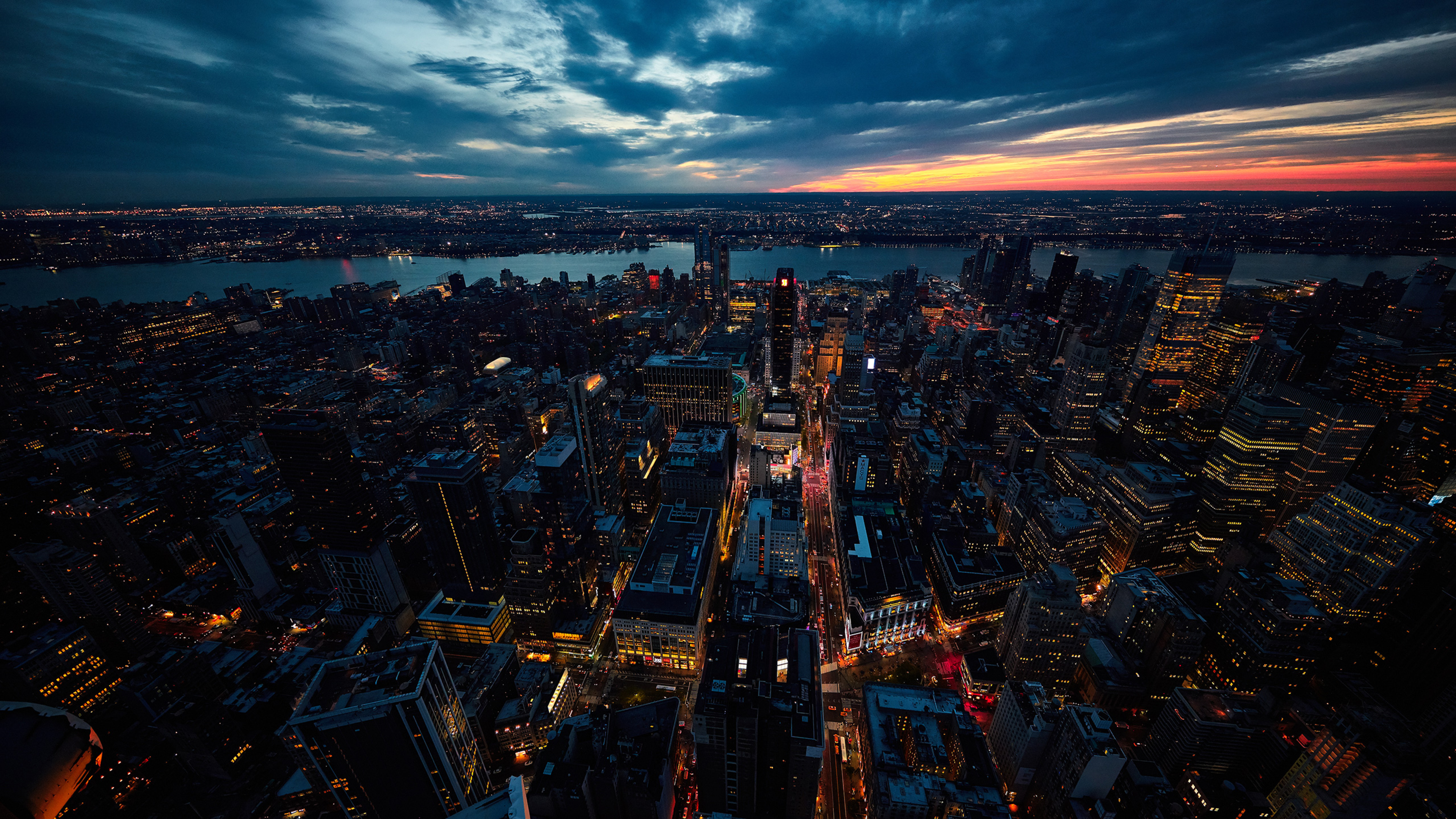 3840x2160 Sunset New York City 4k Hd 4k Wallpapers Images