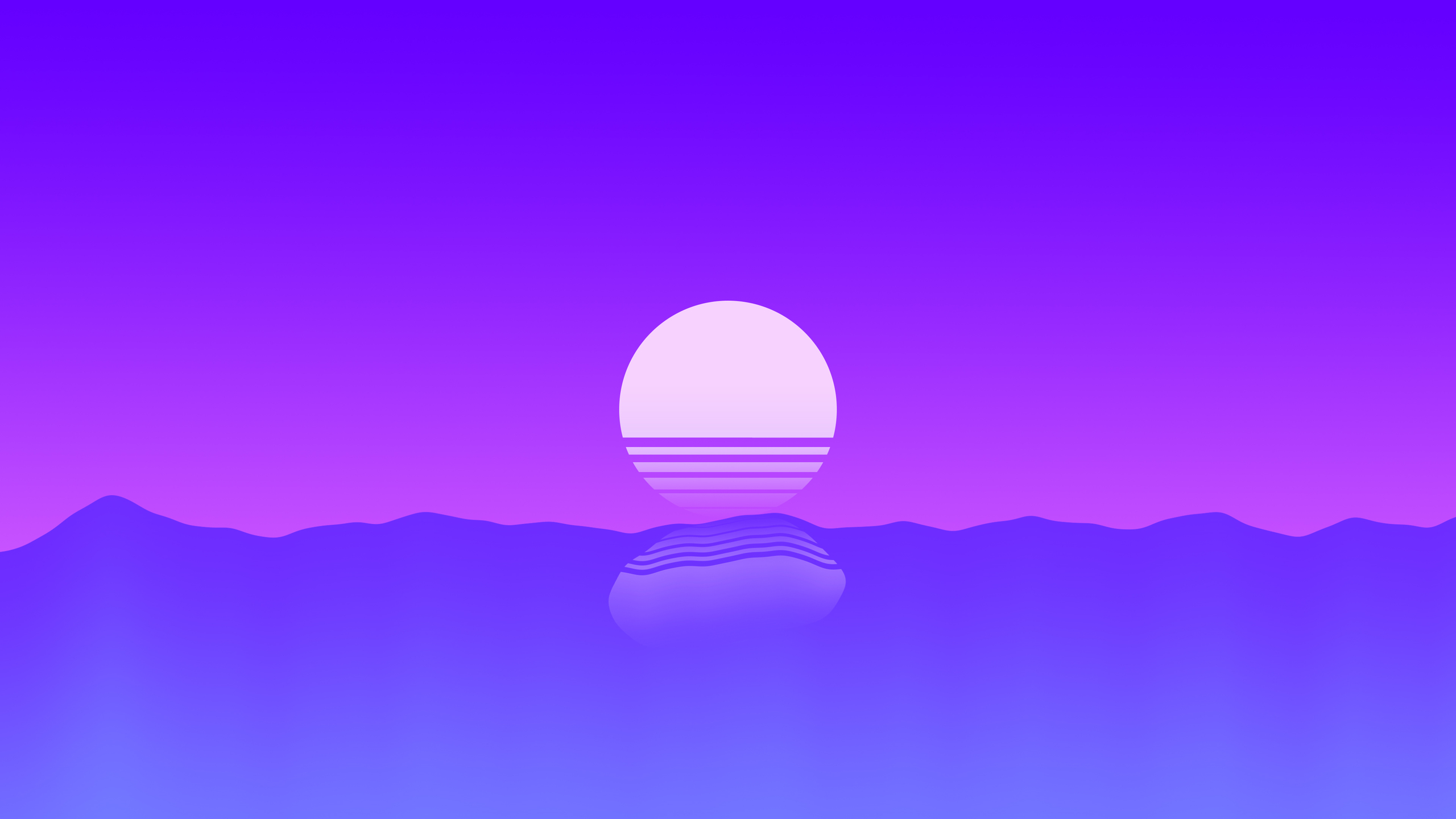 2560x1440 Sunset Outrun Minimalism 4k 1440P Resolution HD ...