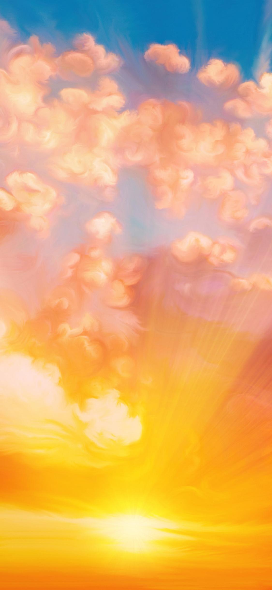 1125x2436 Sunset Sky Painting Iphone Xs Iphone 10 Iphone X