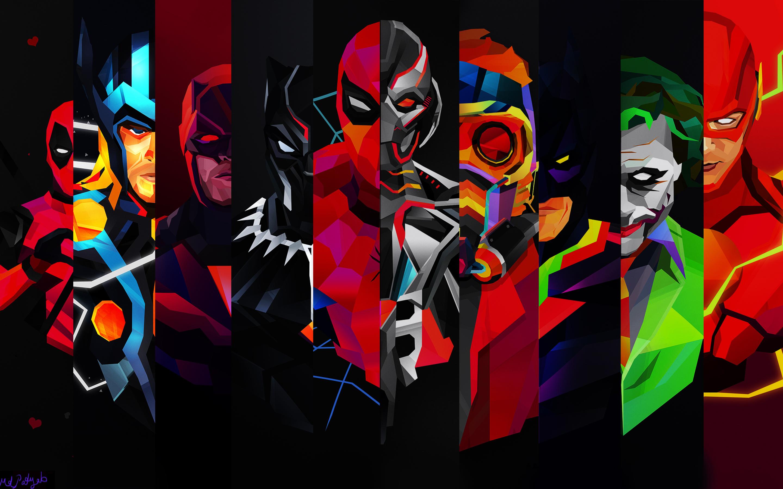 Cool Wallpaper Macbook Superhero - super-heroes-on-2880x1800  Pictures_45661.jpg
