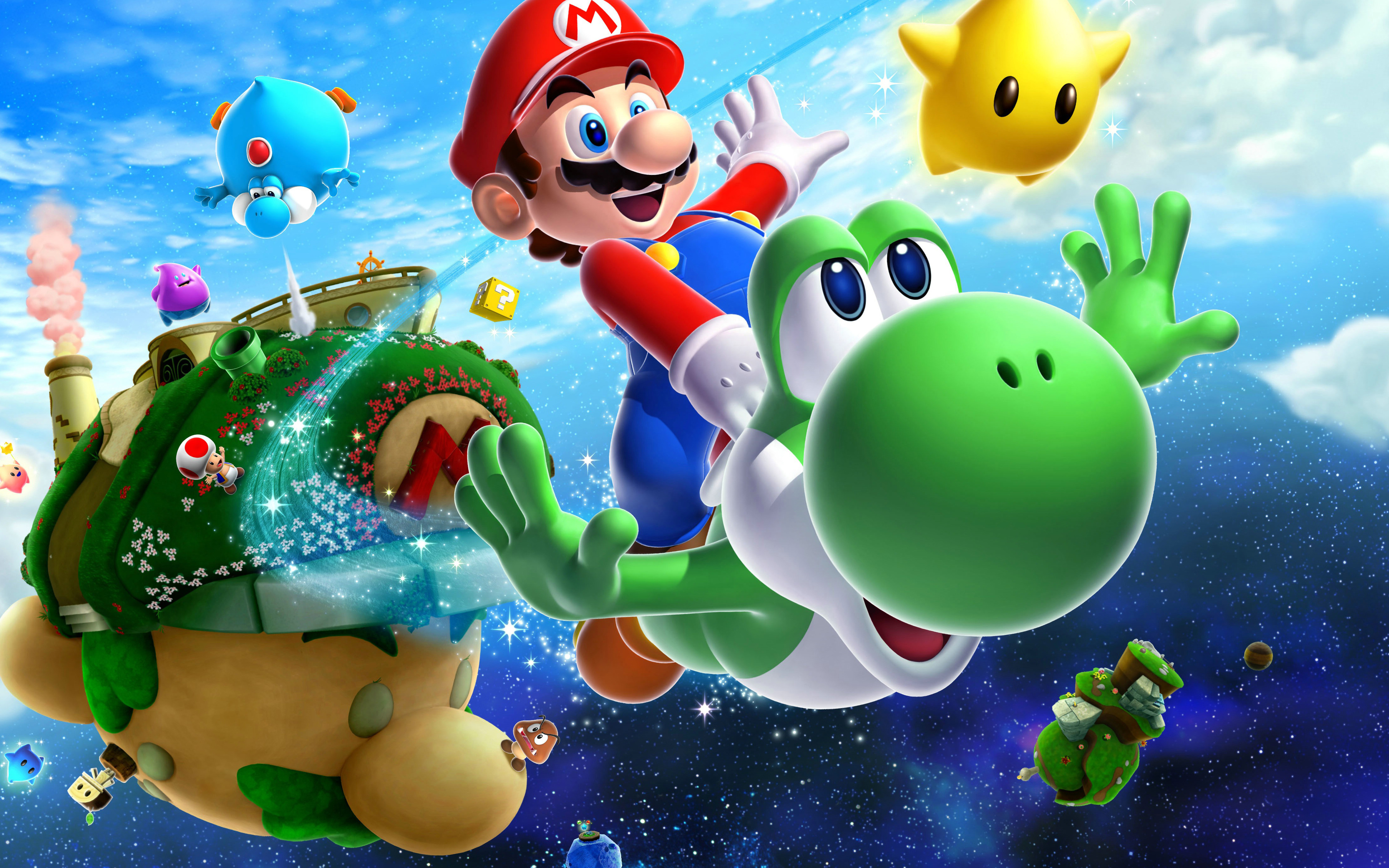 3840x2400 Super Mario Galaxy 2 4k Hd 4k Wallpapers Images