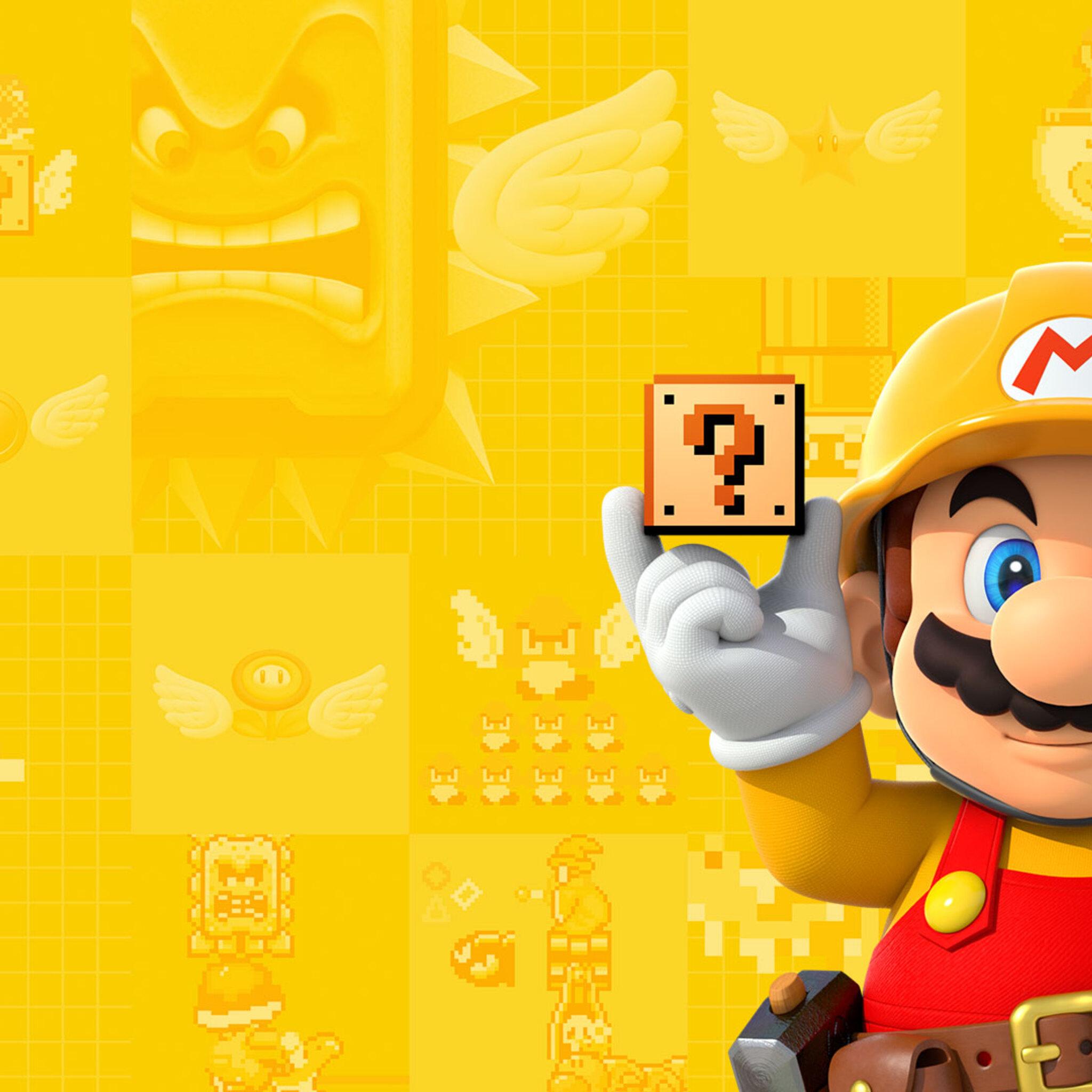 2048x2048 Super Mario Maker Ipad Air HD 4k Wallpapers