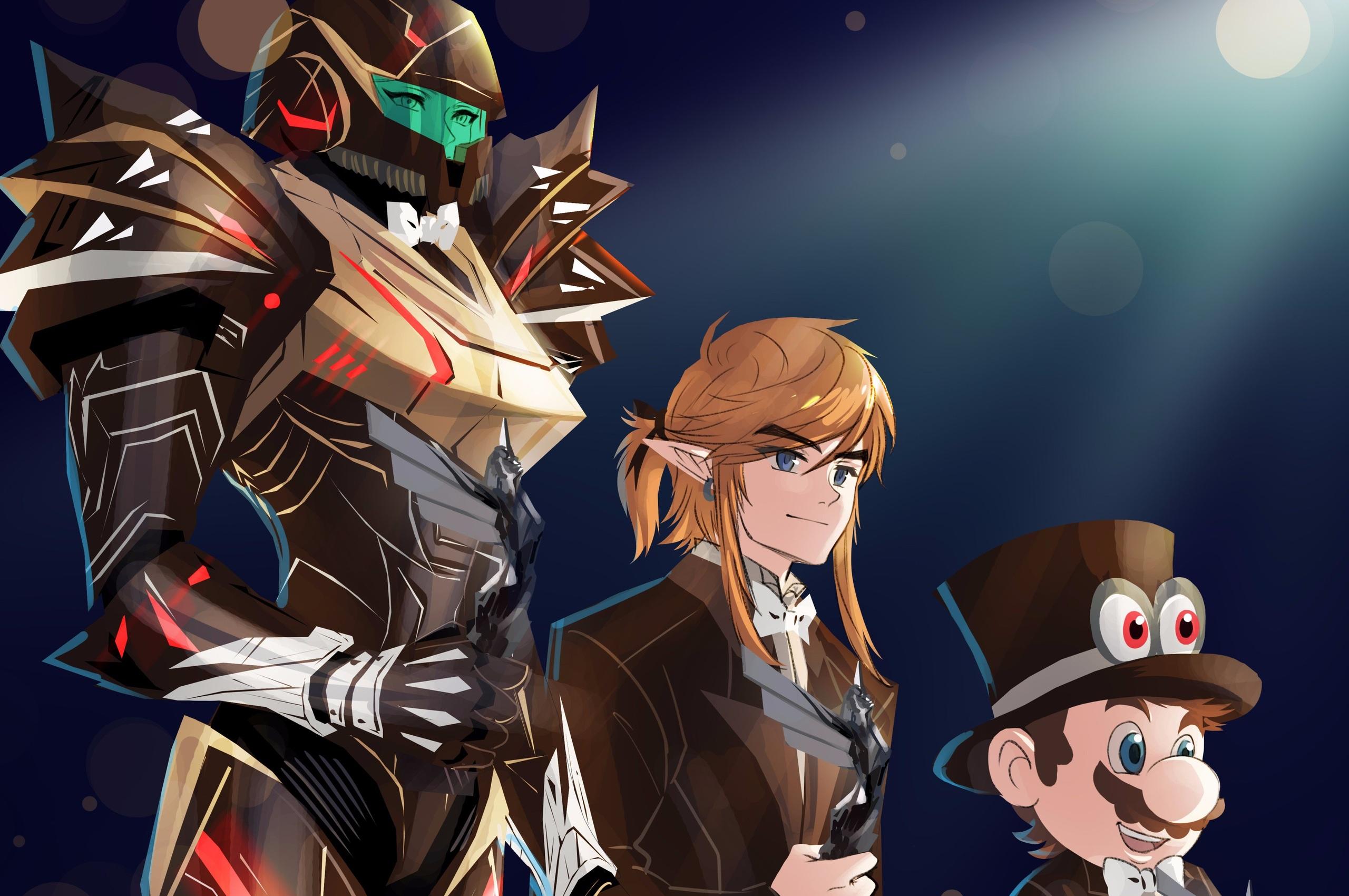 2560x1700 Super Mario Odyssey Samus Aran The Legend Of Zelda