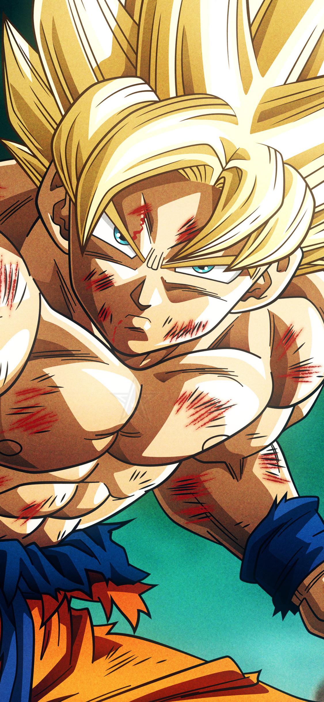 1125x2436 Super Saiyan Son Goku Dragon Ball Z 4k Iphone Xs Iphone 10