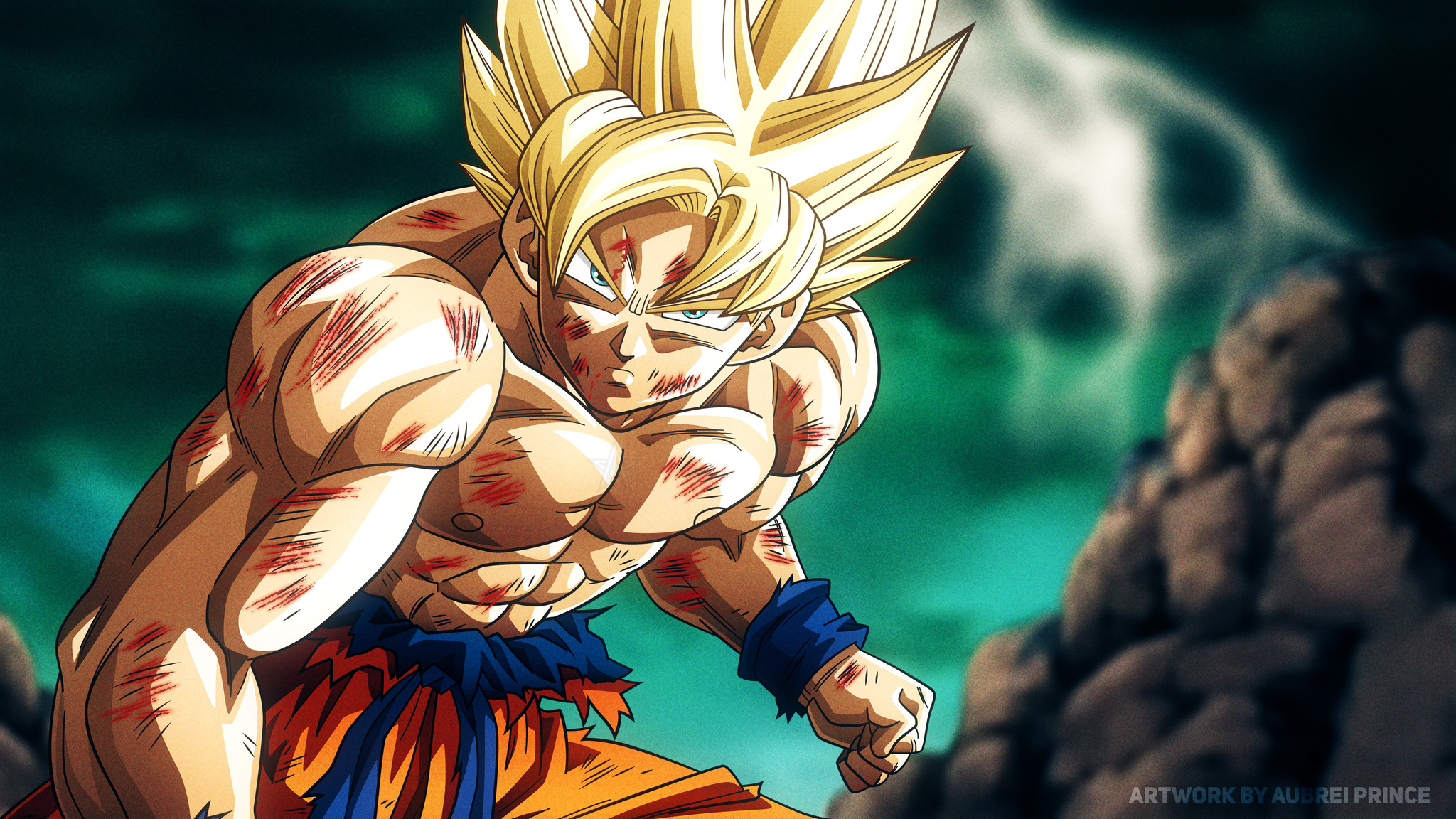 2048x1152 Super Saiyan Son Goku Dragon Ball Z 4k 2048x1152