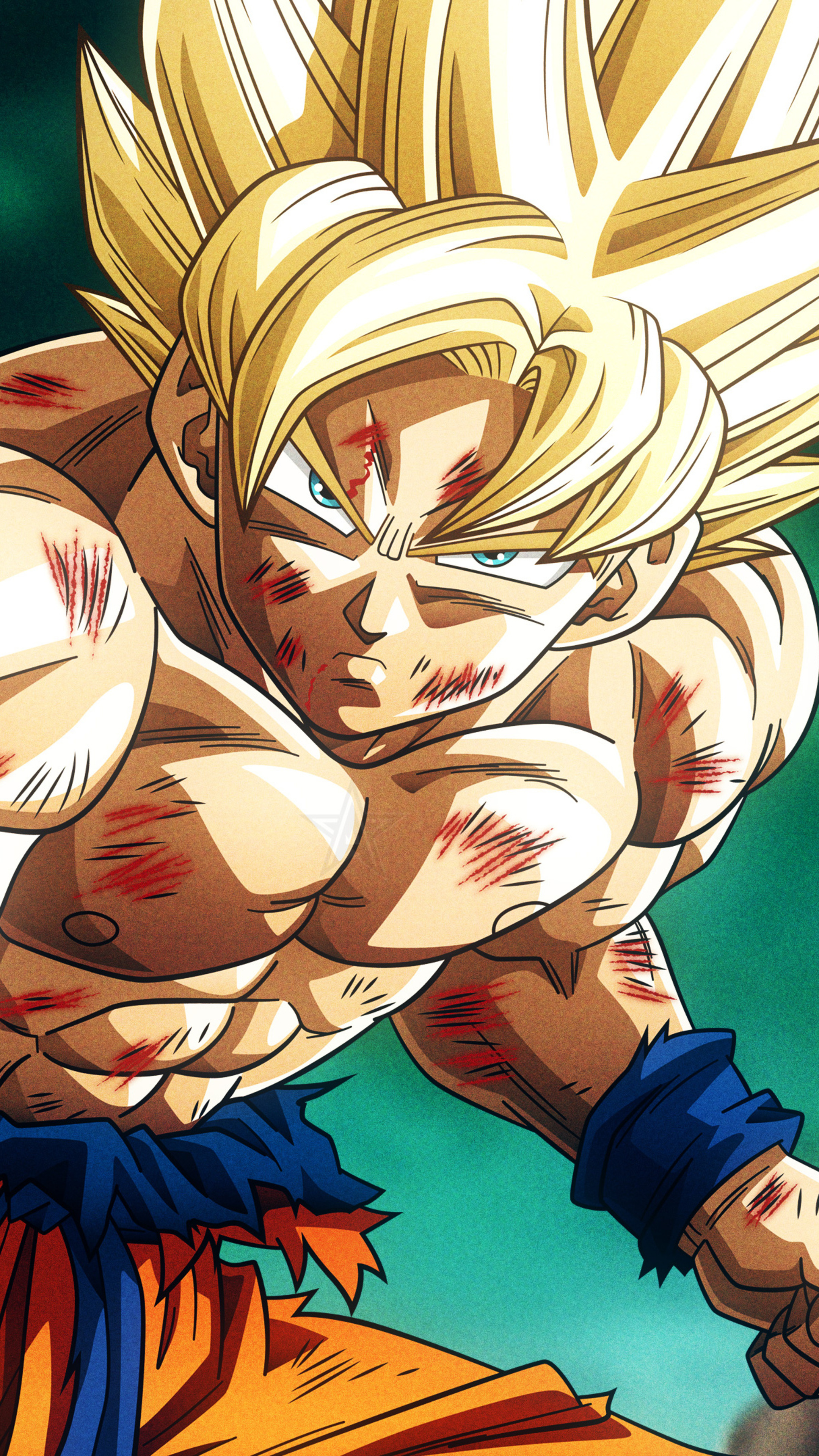 2160x3840 Super Saiyan Son Goku Dragon Ball Z 4k Sony