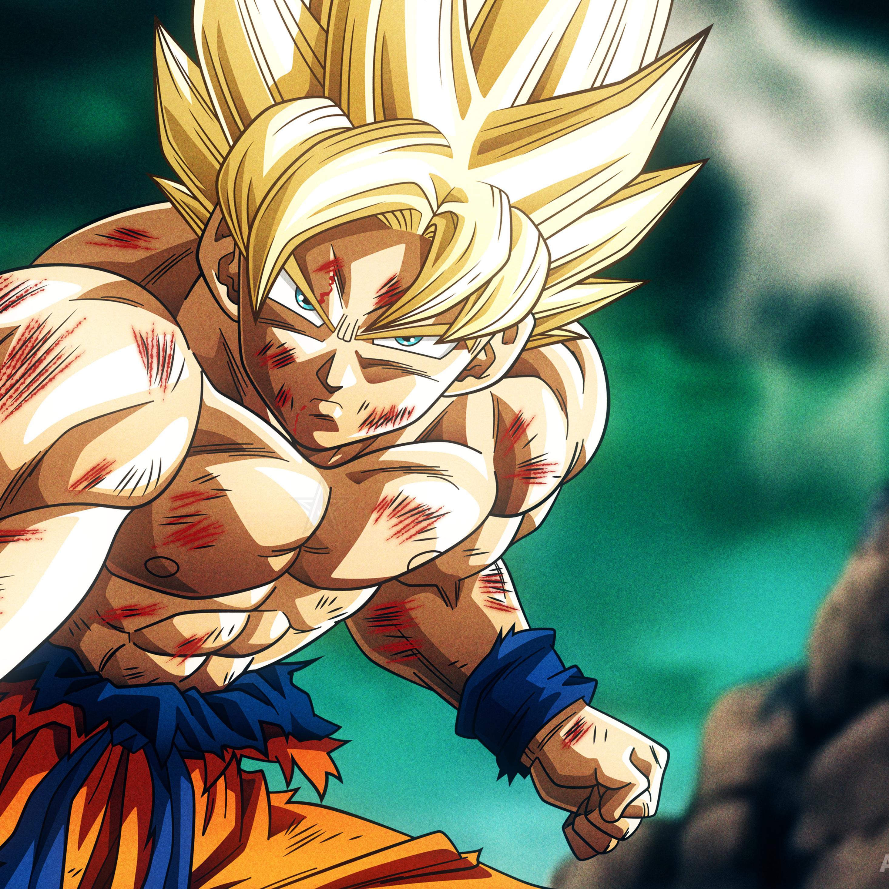 2932x2932 Super Saiyan Son Goku Dragon Ball Z 4k Ipad Pro