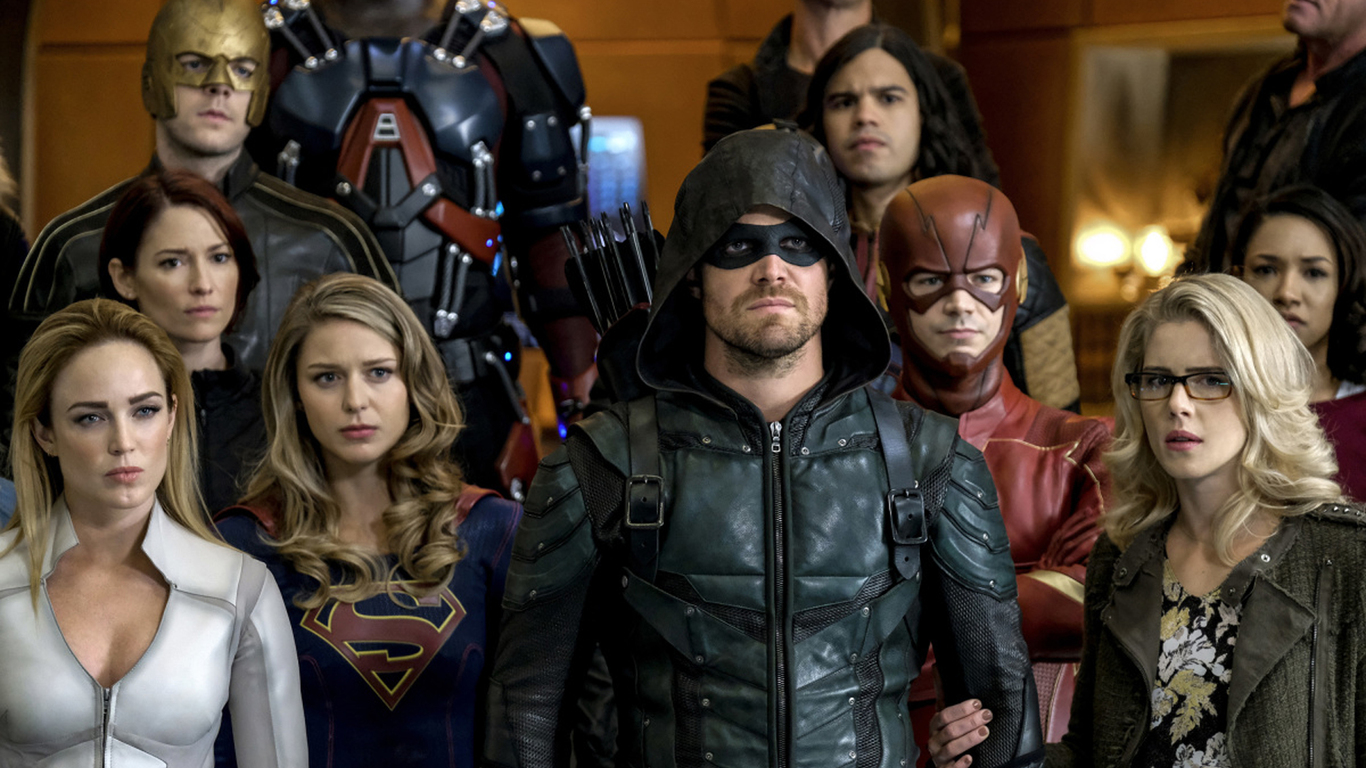 1366x768 Supergirl Arrow The Flash And Legends Of Tomorrow