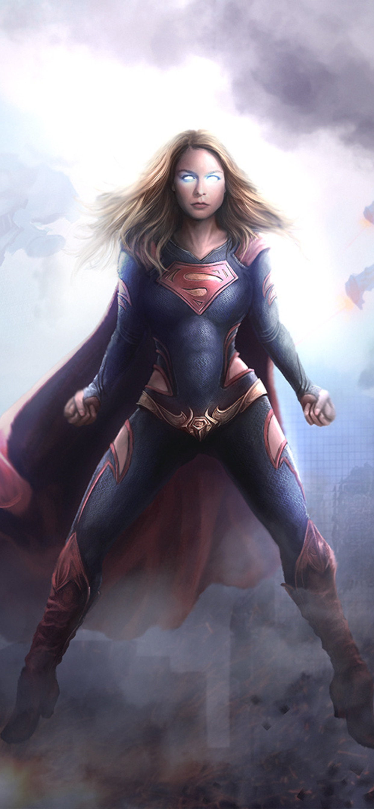1242x2688 Supergirl Arts 2018 Iphone Xs Max Hd 4k Wallpapers