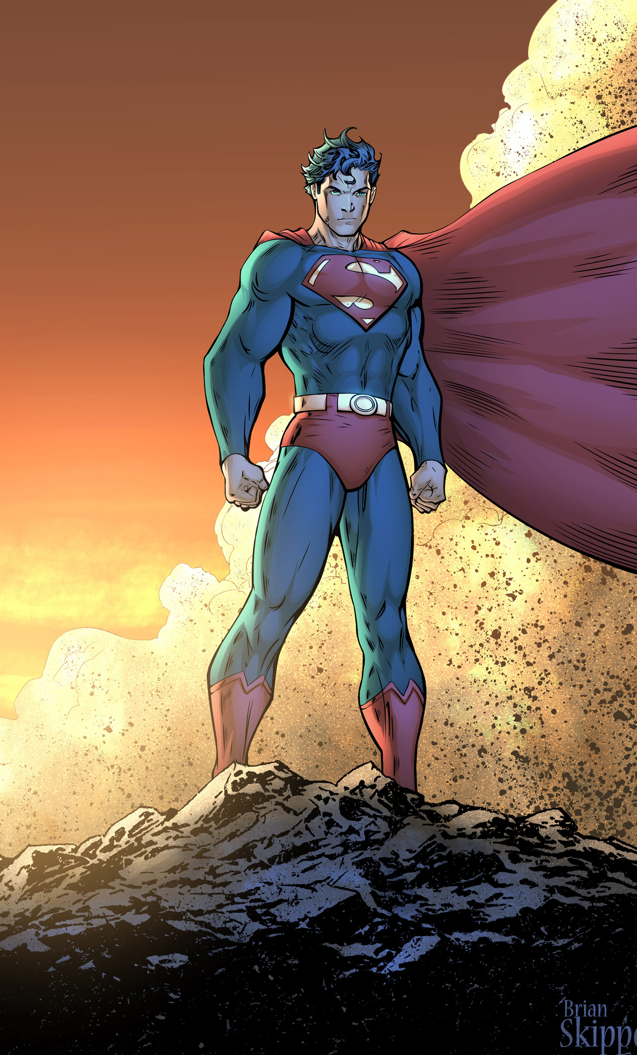 Superman Comic Book Poster 5k Jx