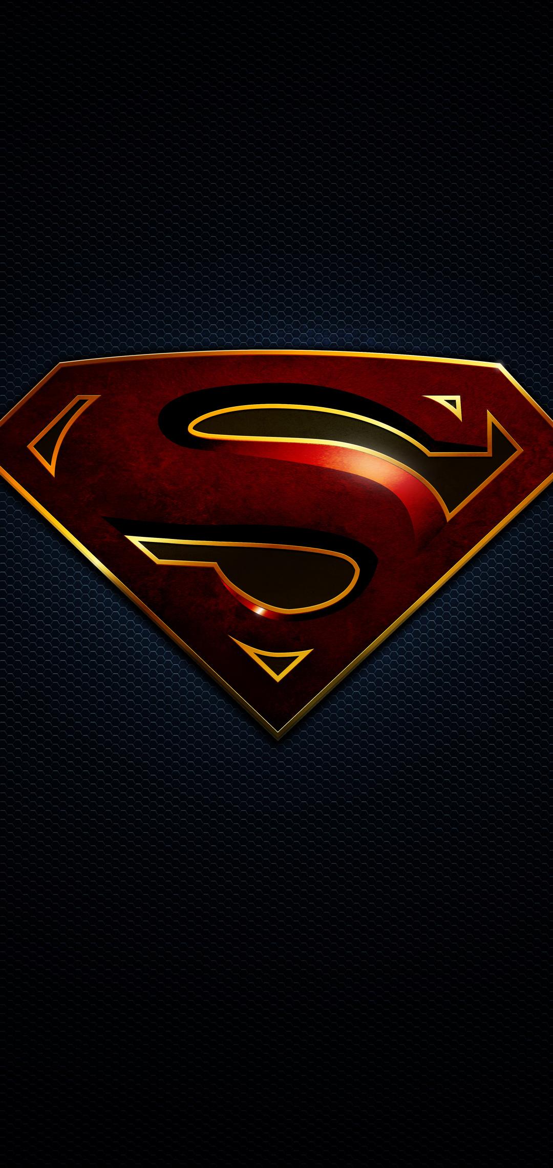 1080x2280 Superman Logo 10k One Plus 6huawei P20honor View 10vivo