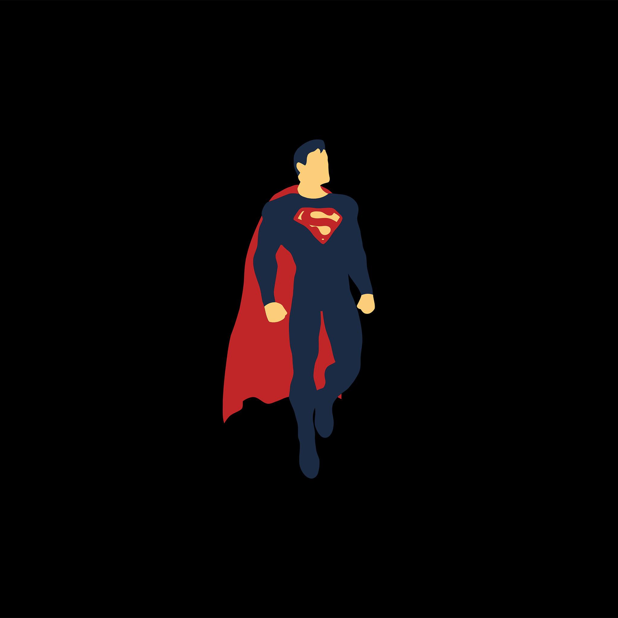 2048x2048 Superman Minimalism 4k Ipad Air HD 4k Wallpapers
