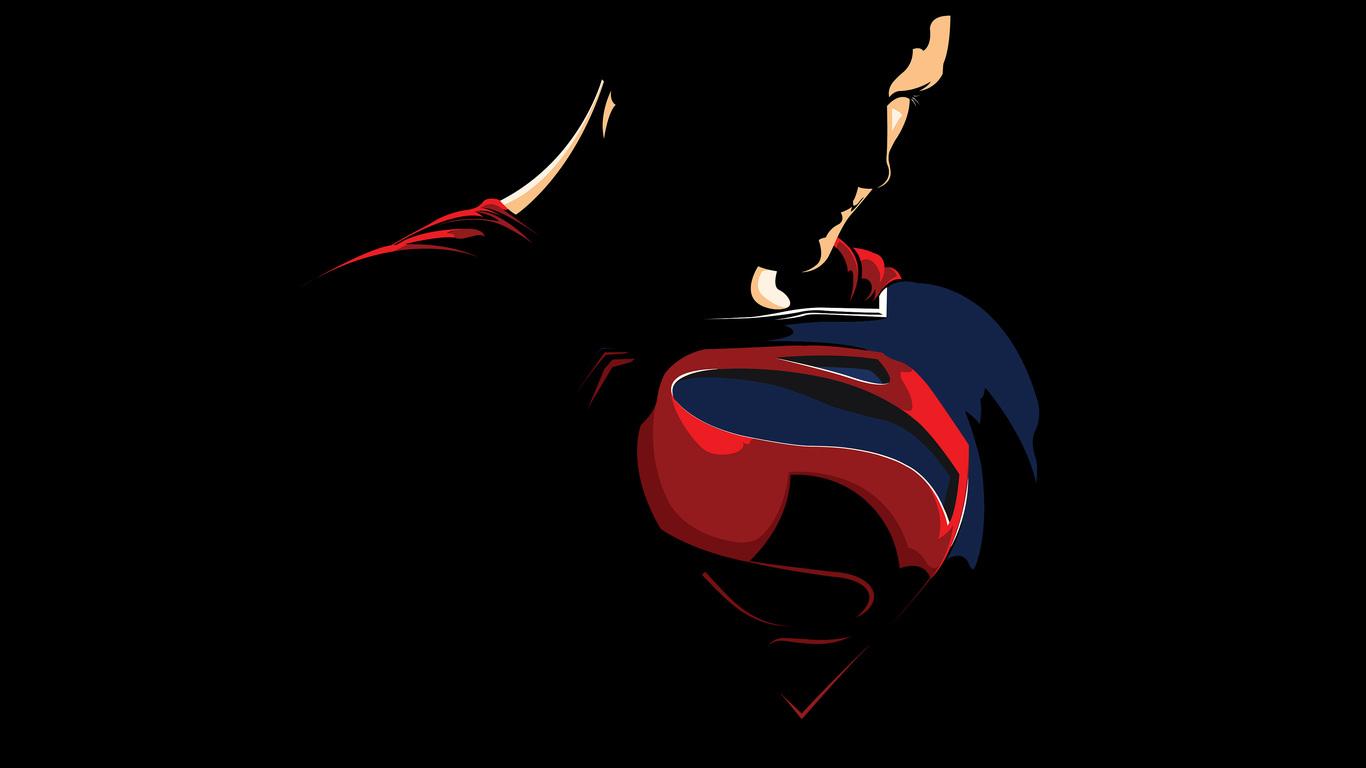 1366x768 Superman Minimalism Logo 4k