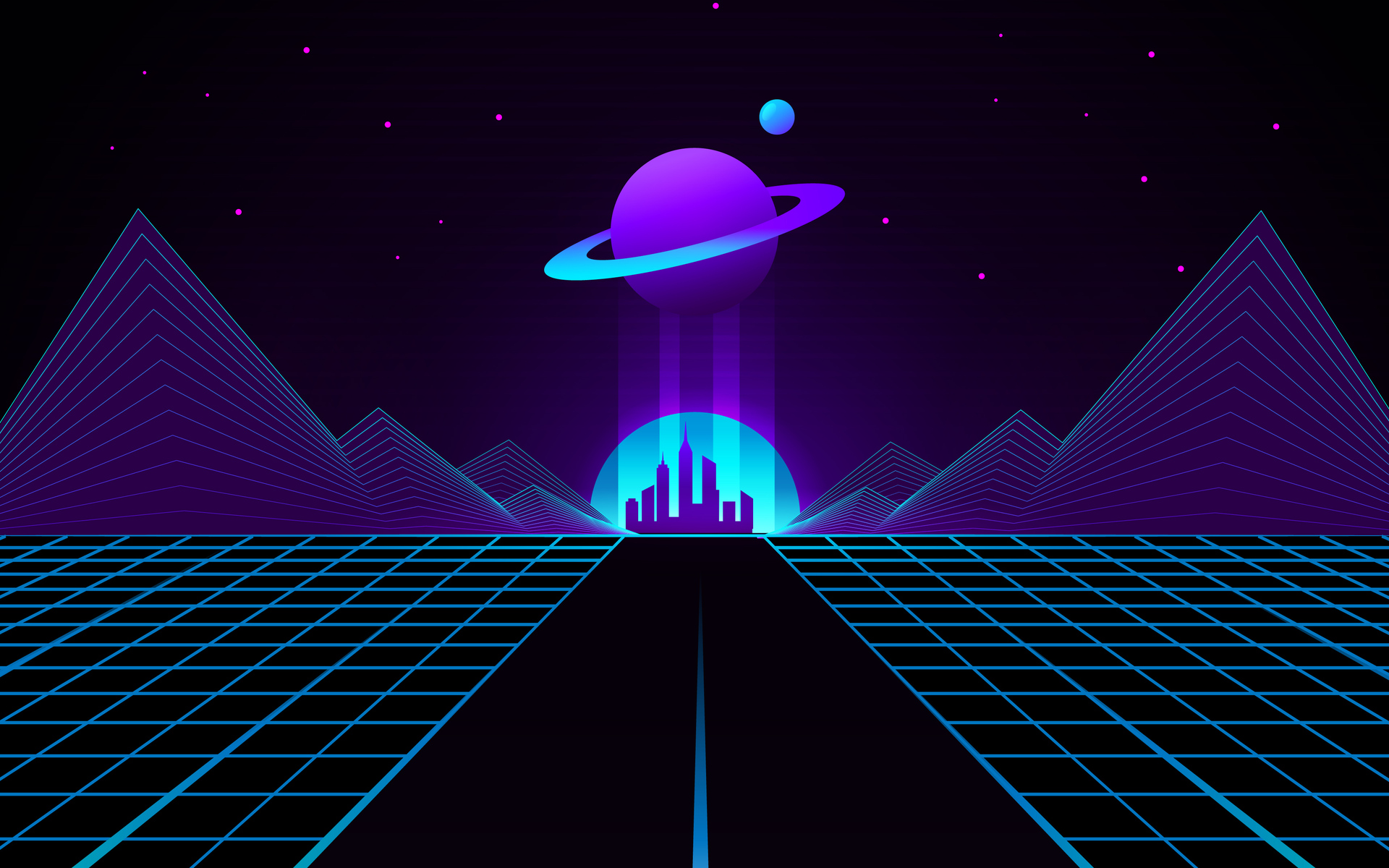 1920x1200 Synthwave Outrun Planet 4k 1080P Resolution HD ...