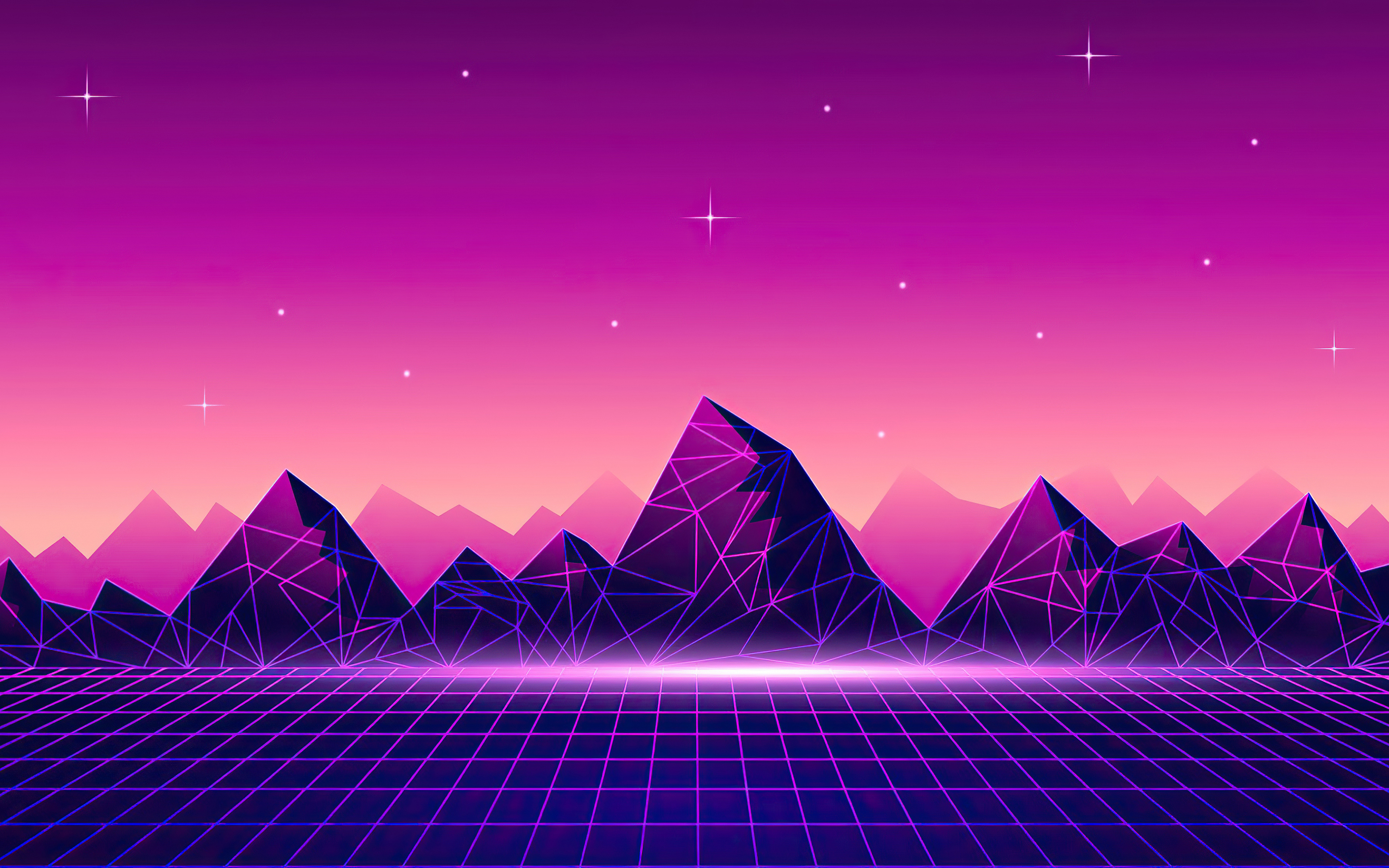 3840x2400 Synthwave Pyramid 4k 4k HD 4k Wallpapers, Images ...